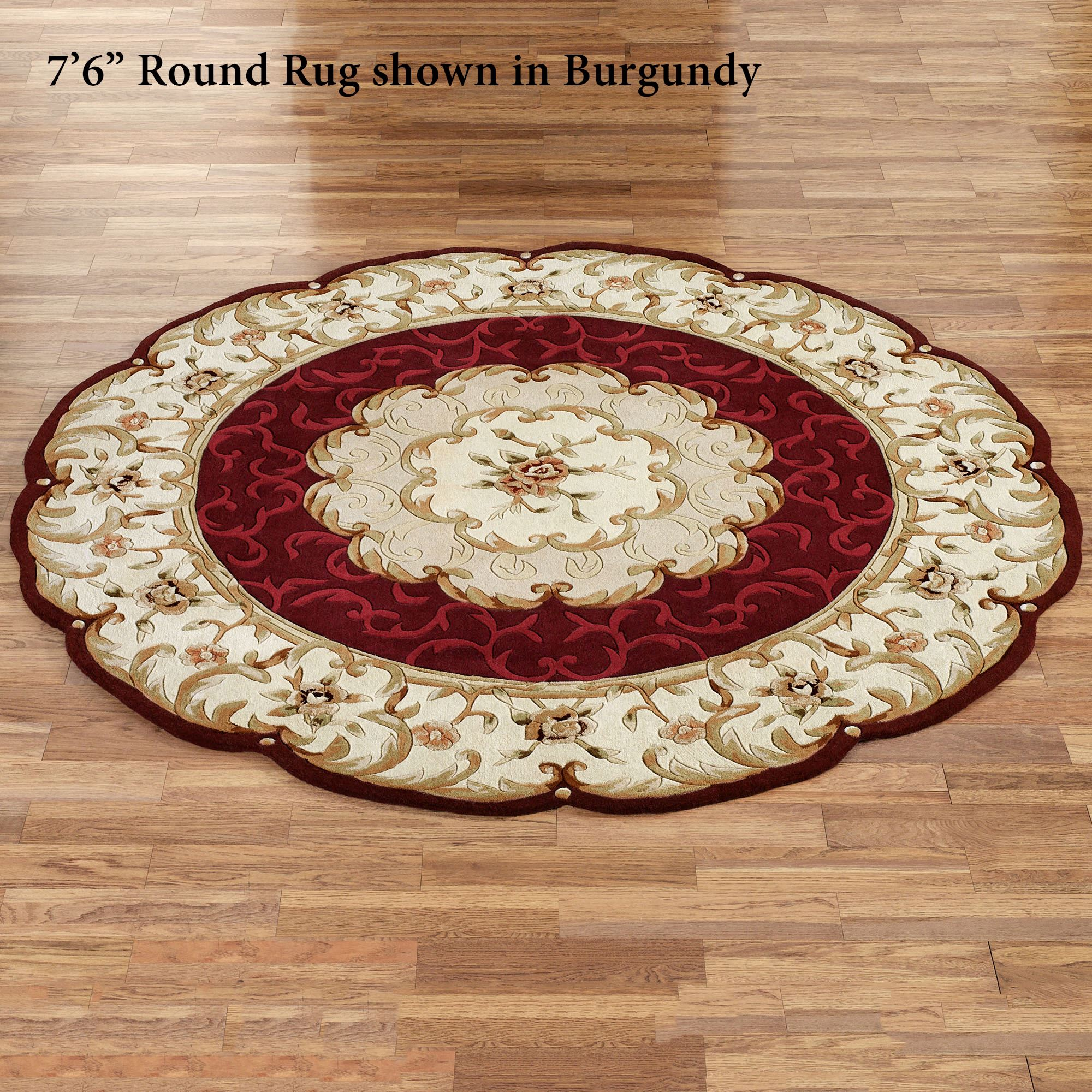 Evaline Wool Aubusson Round Area Rugs