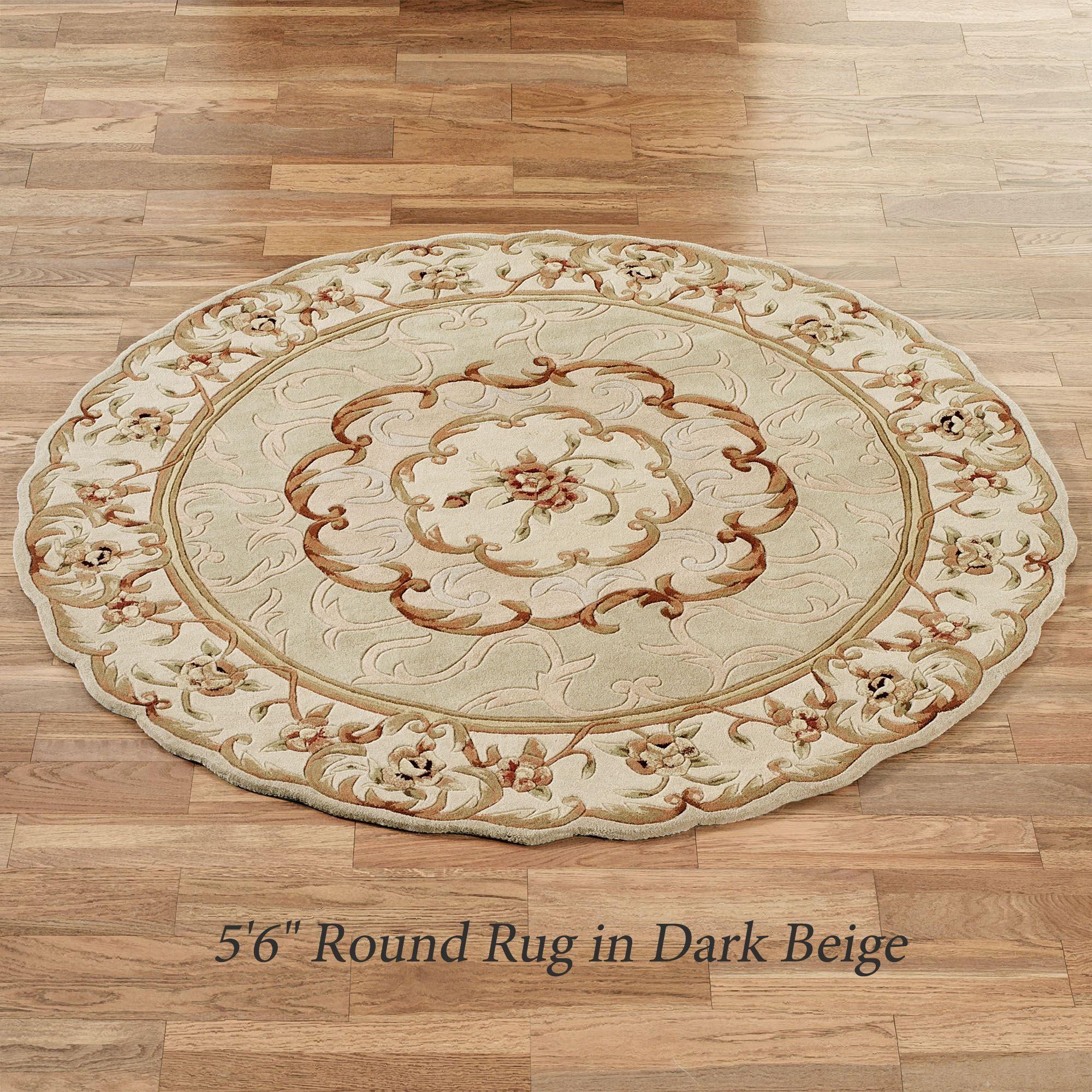 Evaline Wool Aubusson Round Area Rugs
