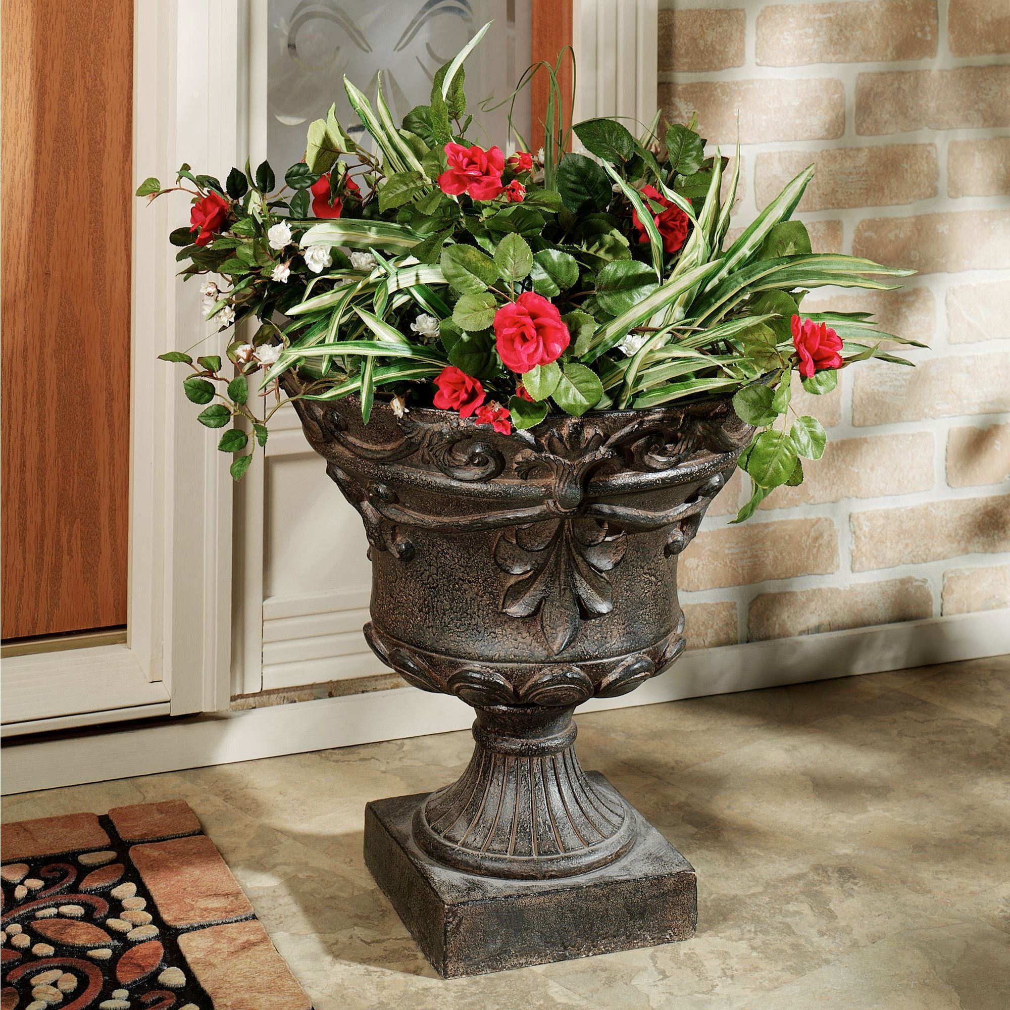 ideas planters patio summer planter winter outdoor for outside