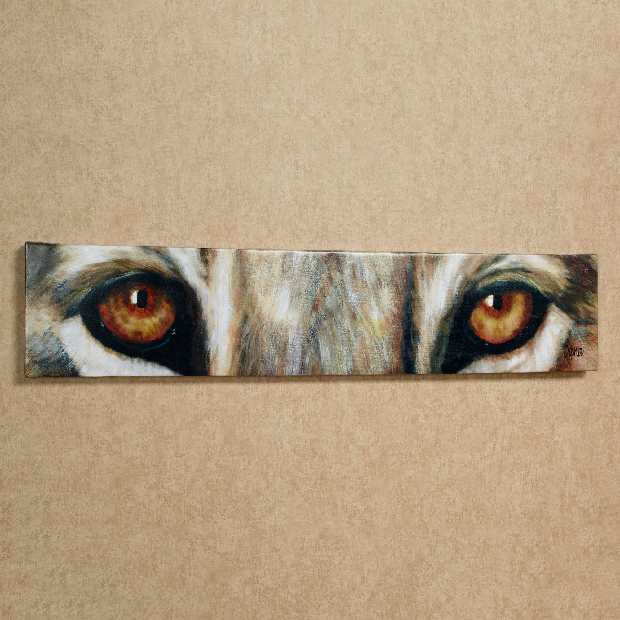 Lion Eyes Canvas Wall Art