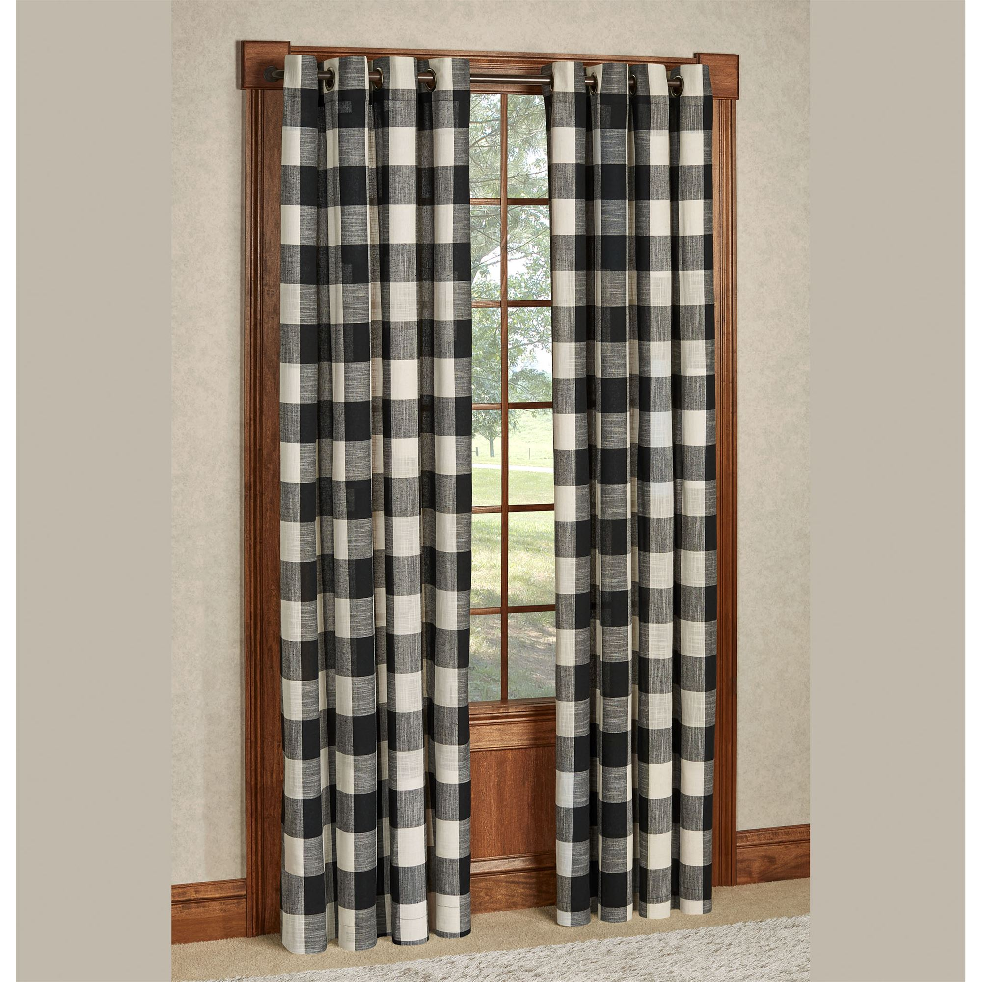 Checkerboard Grommet Window Treatment