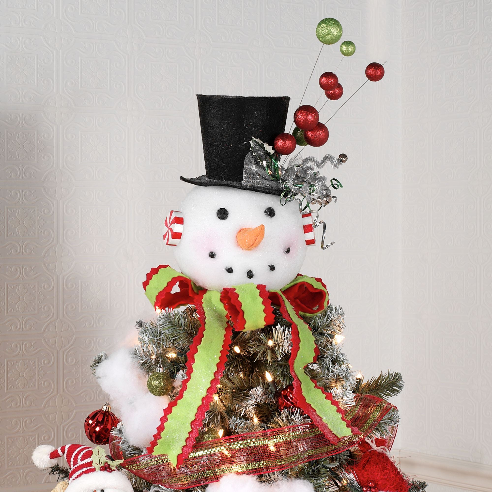 Snowman Christmas Tree Topper Or Table Accent