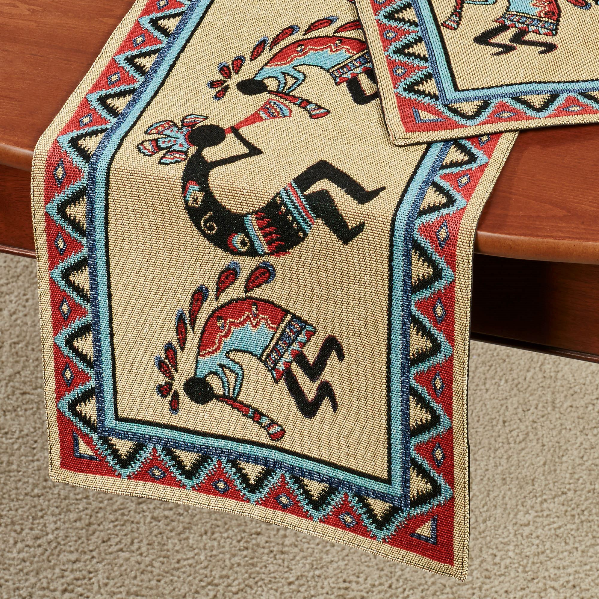 Kokopellis Southwest Table Runner Multi Warm 13 X 72