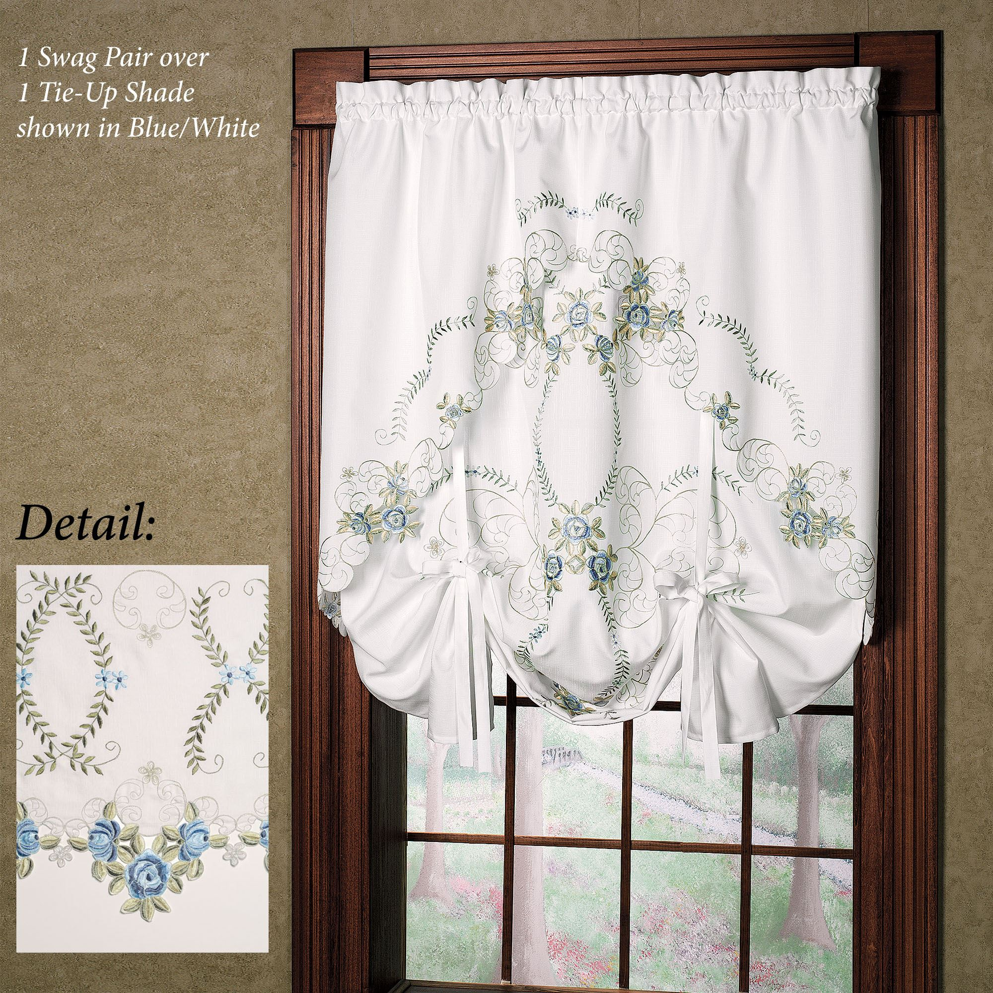 curtain up united amazon taupe com home dp tie savannah kitchen inch valance by shade curtains