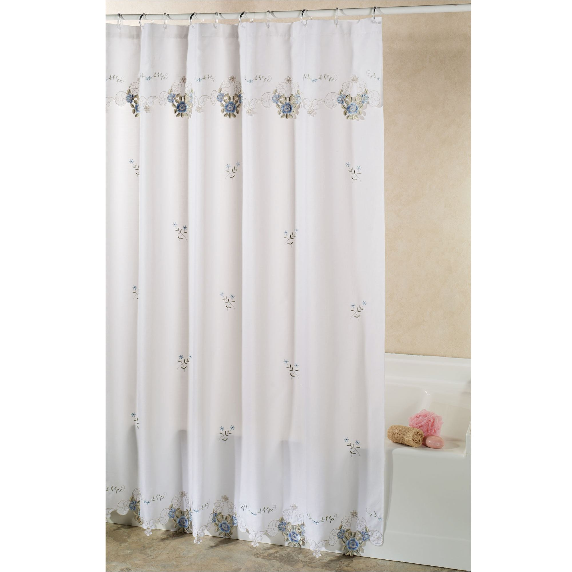 embroidered curtain red rose briar roses curtains p champagne floral x shower