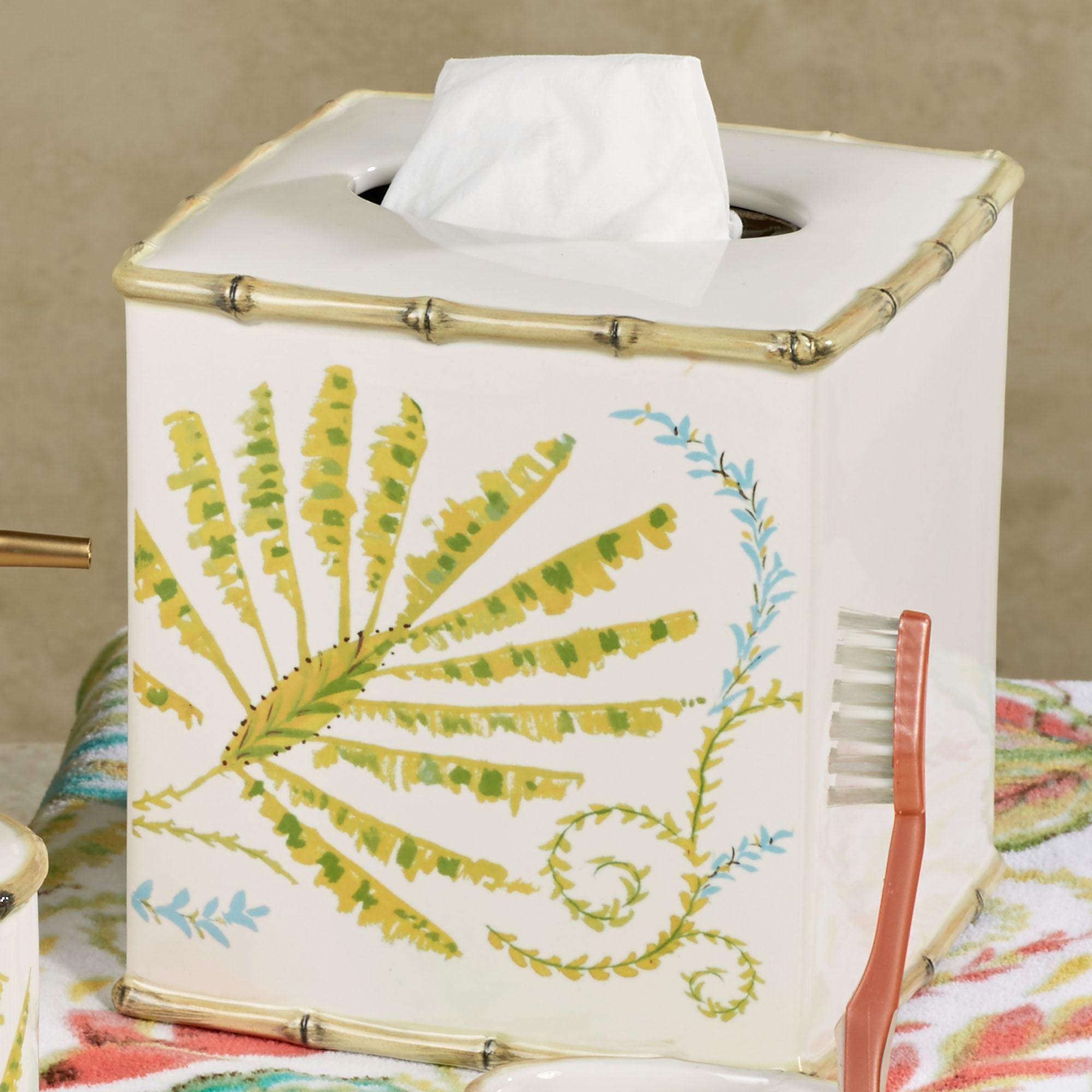 Tropical Palm Ceramic Bath Accessories by Dena Home