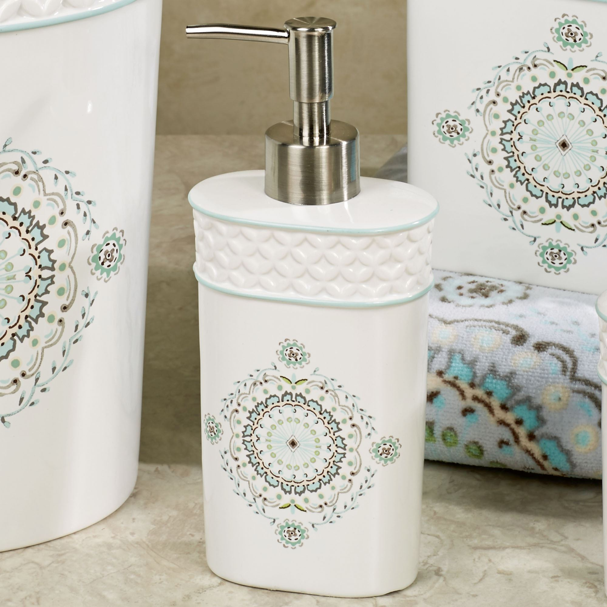 Camden Off White Ceramic Bath Accessories by Dena Home