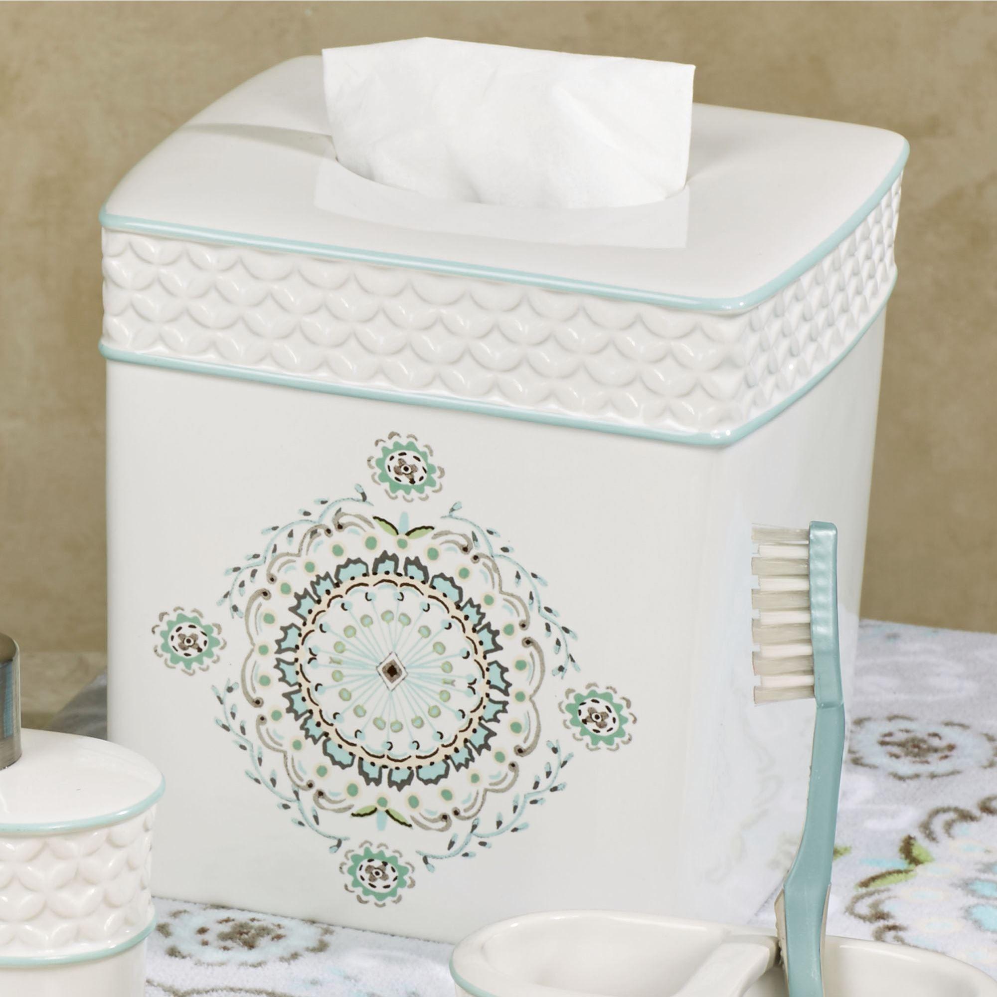 Camden Off White Ceramic Bath Accessories by Dena Home
