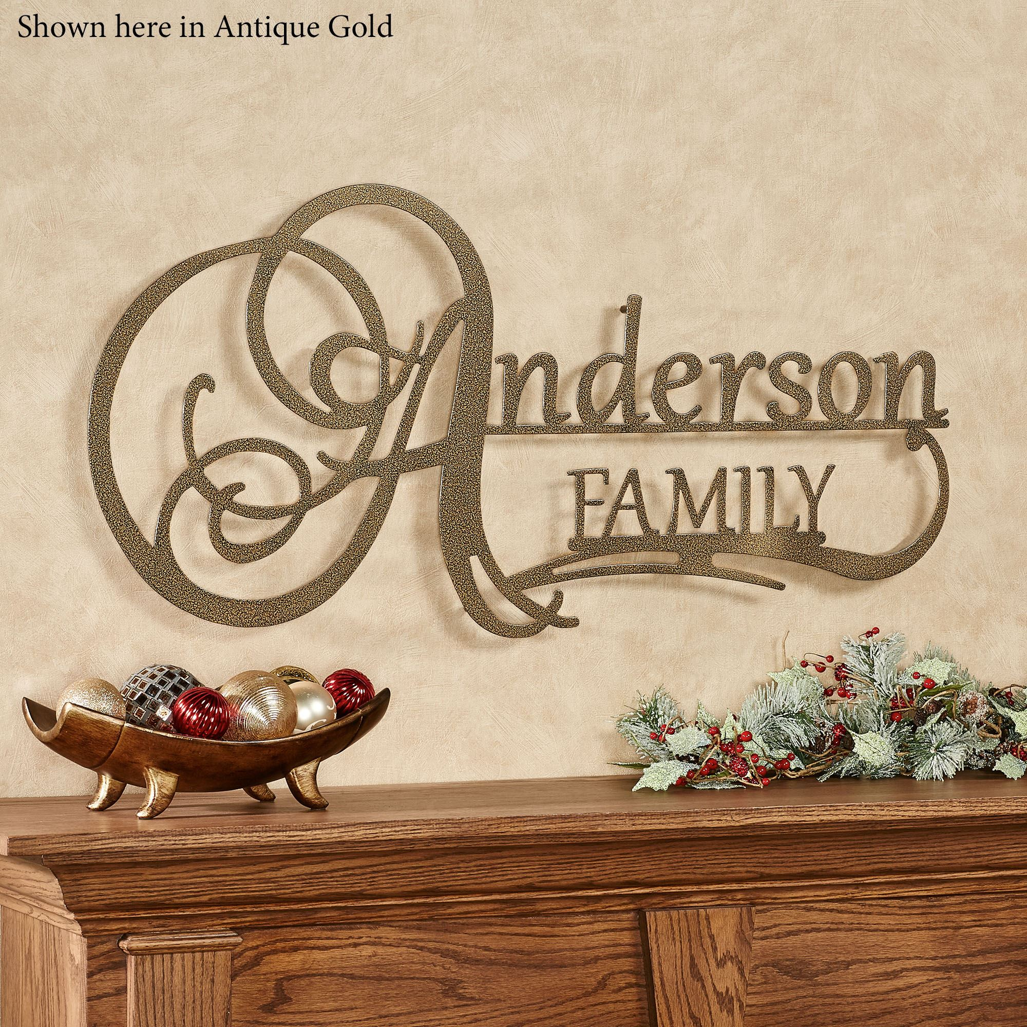 Affinity Family Personalized Metal Wall Art Sign By Jasonw