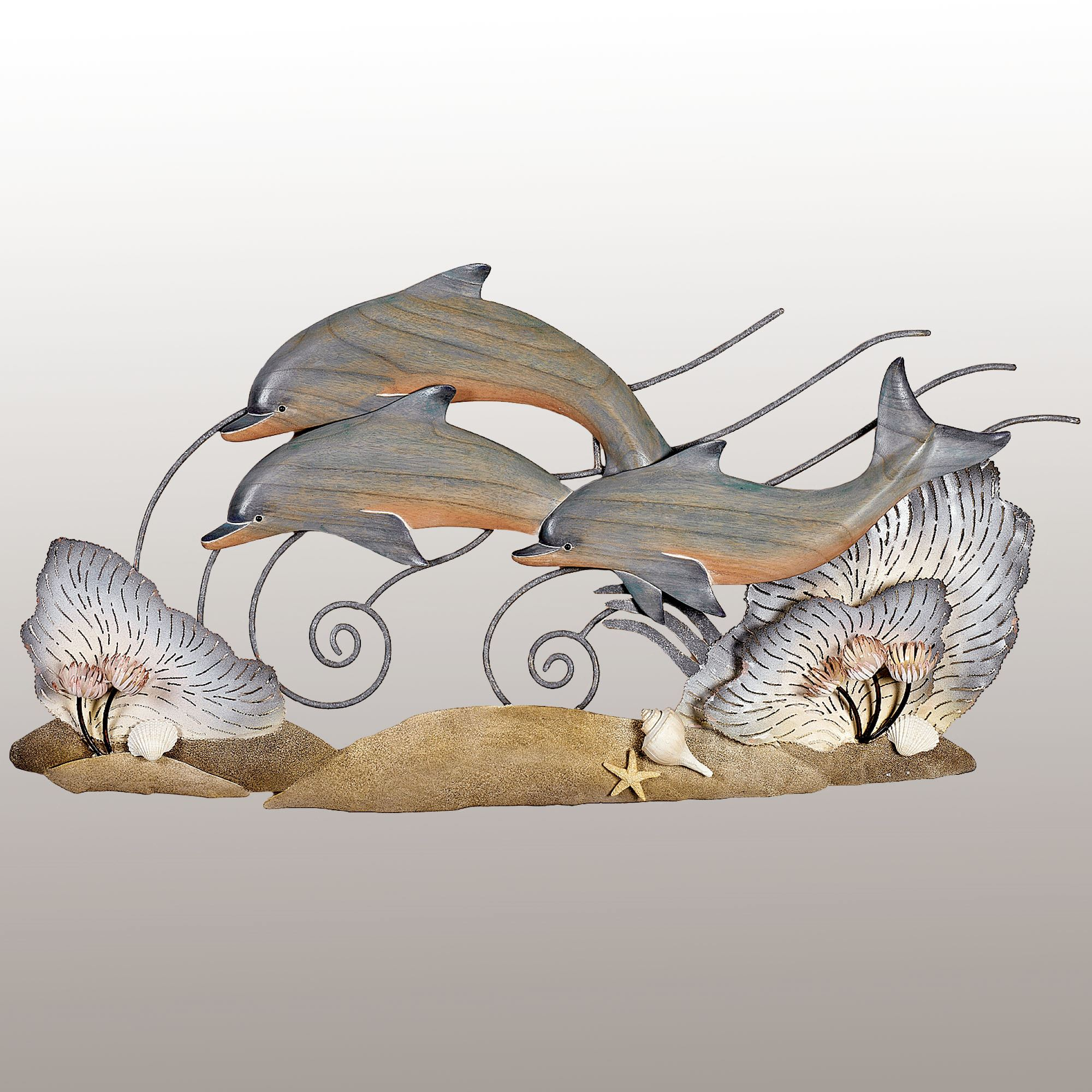 Soaring High Dolphins Wall Sculpture