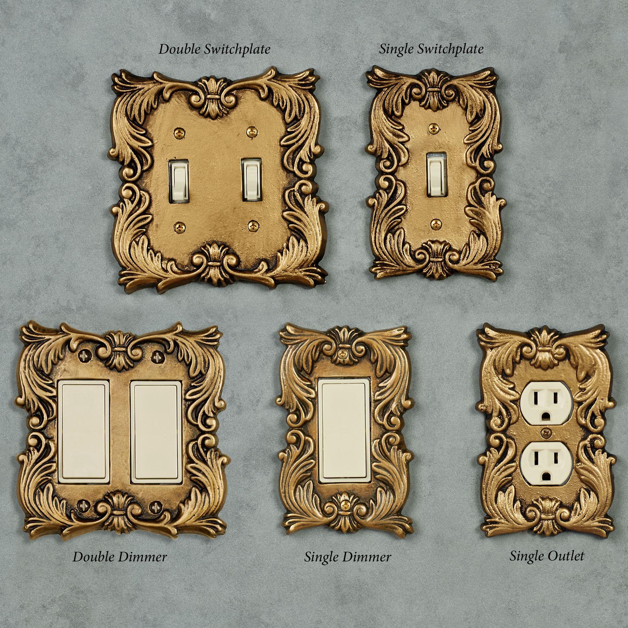 Gold Switch Plates Fleur De Lis Decorative Switchplates