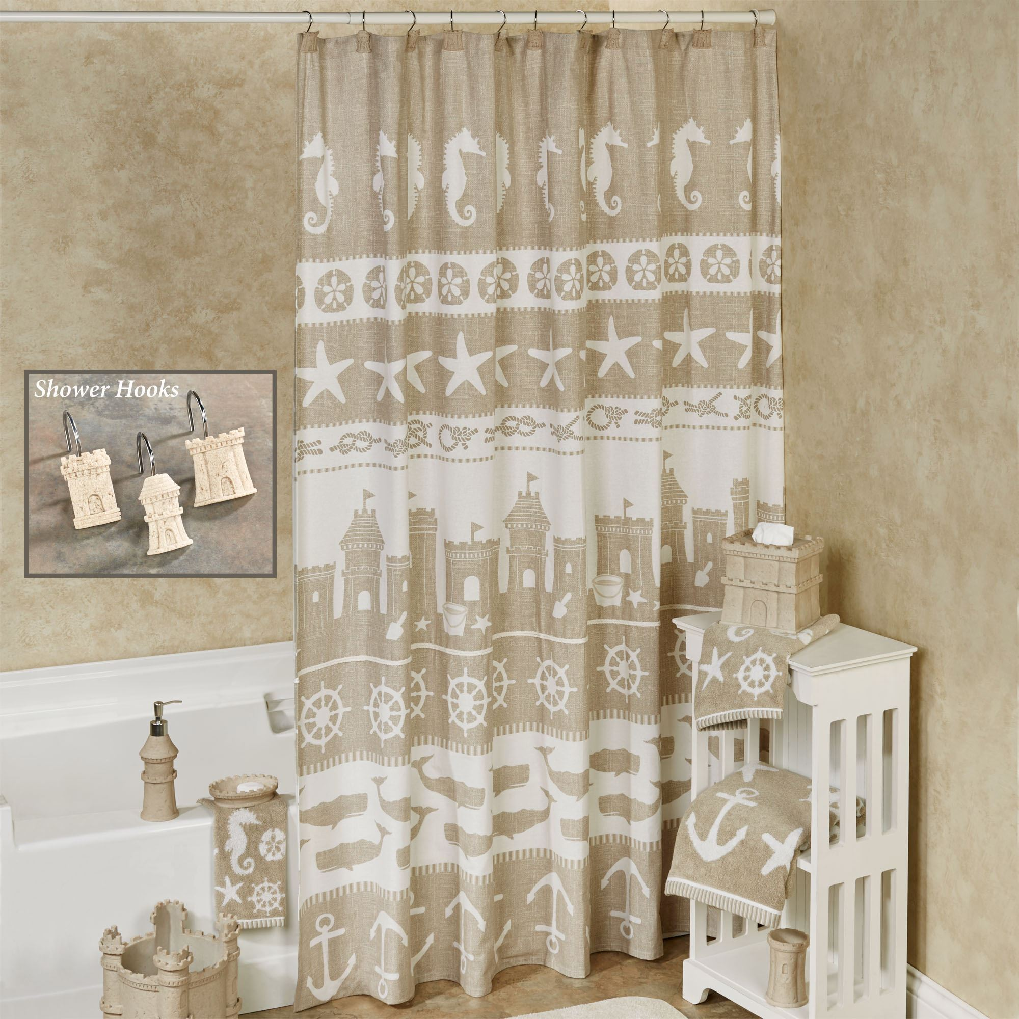 Sea And Sand Shower Curtain 72 X