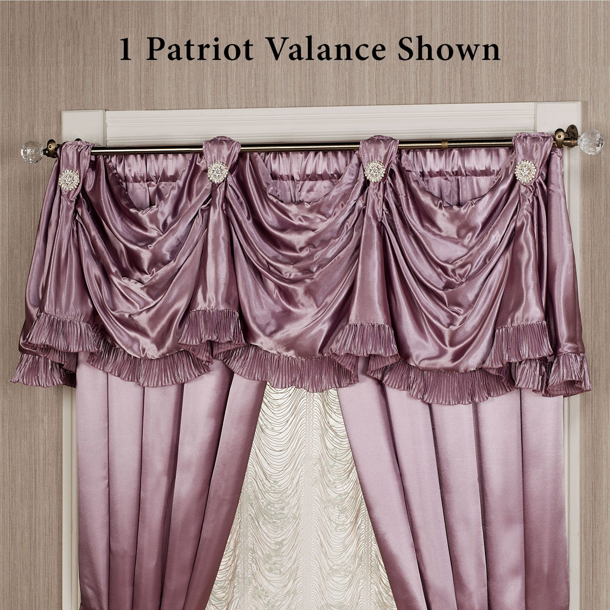 balloon purple designs window carousel valance solid lilac style rod pocket valances large