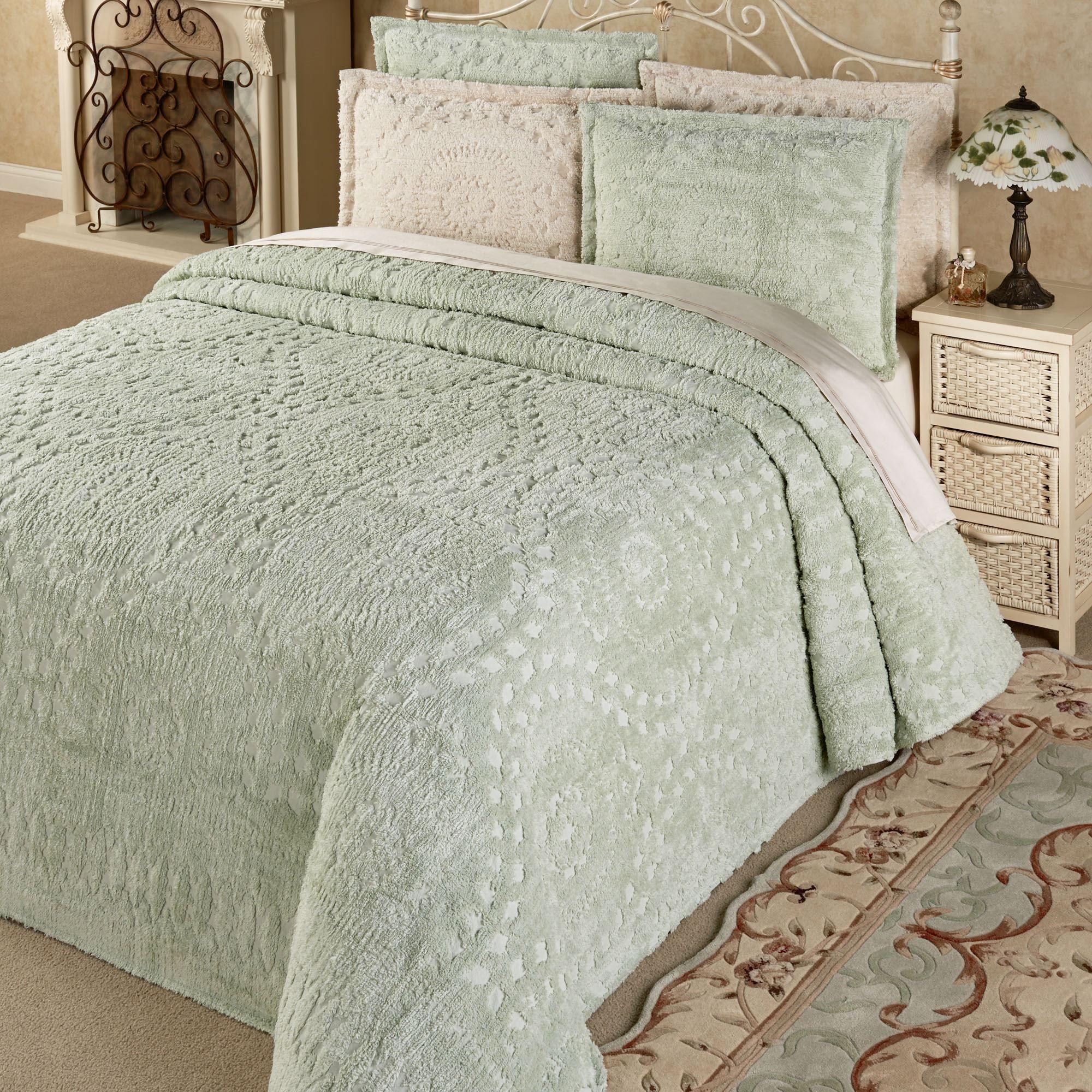 Chenille Bedspreads.Rio Lightweight Cotton Chenille Bedspread Bedding