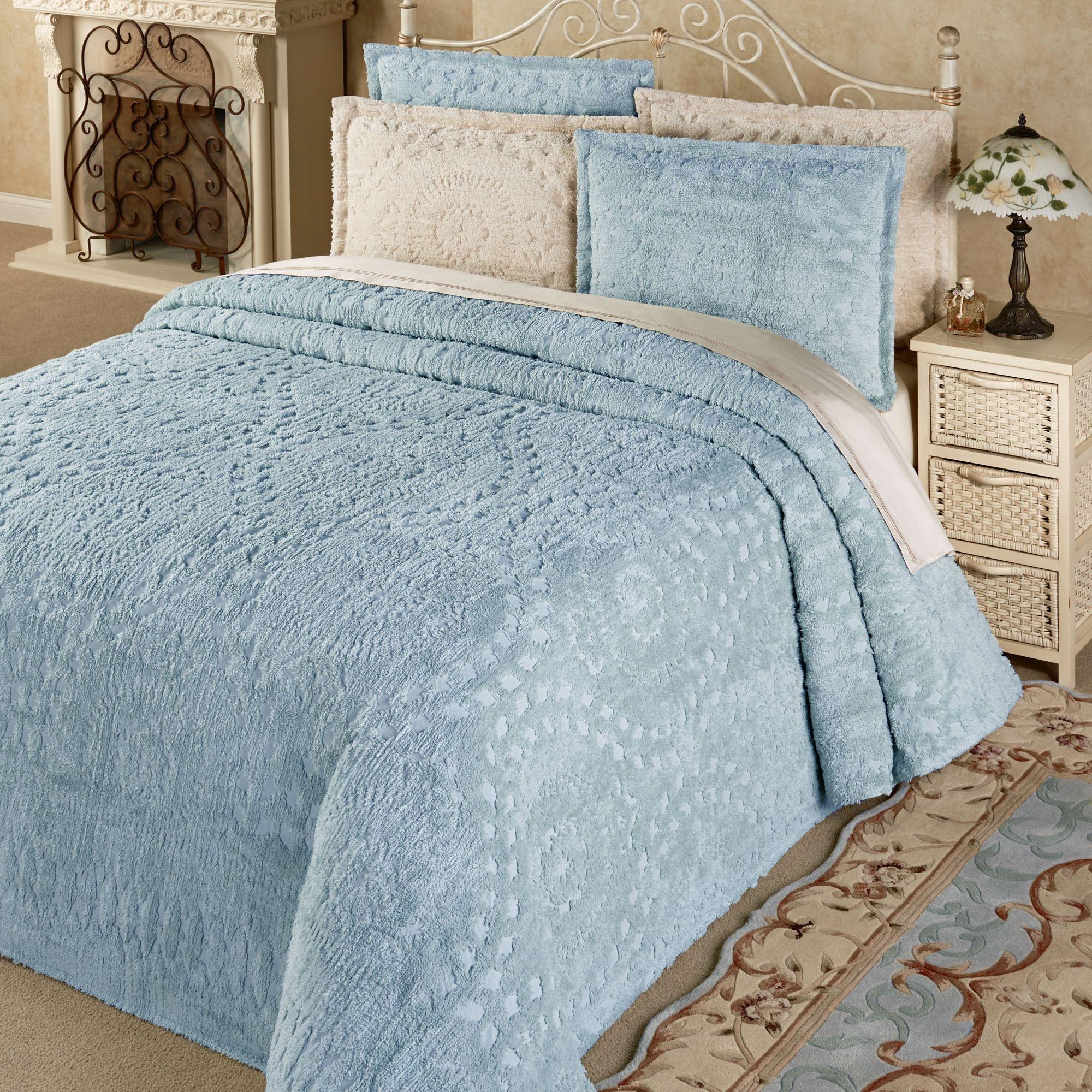 Rio Lightweight Cotton Chenille Bedspread Bedding