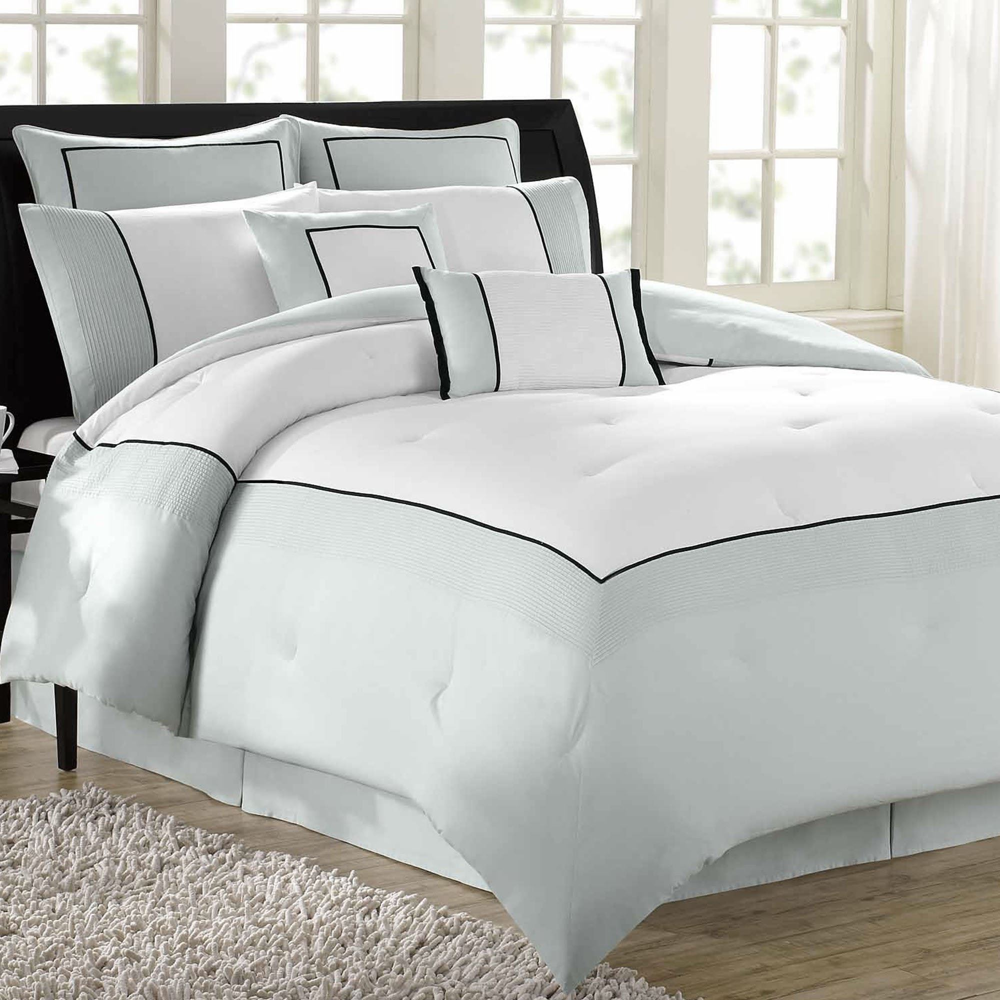 ivory davenport p scroll set comforter bedding hotel collection