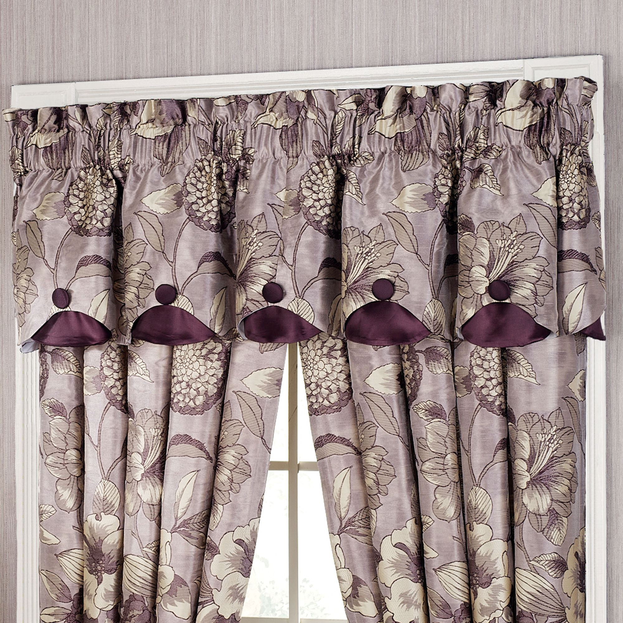 sheer gray room of for kitchen and size brown treatments dining ideas valances navy valance bedroom full yellow purple window