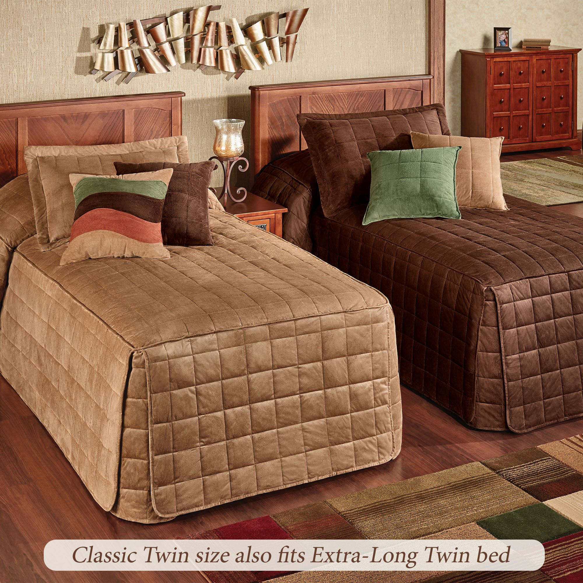 - Camden Solid Color Classic Fitted Bedspread Bedding