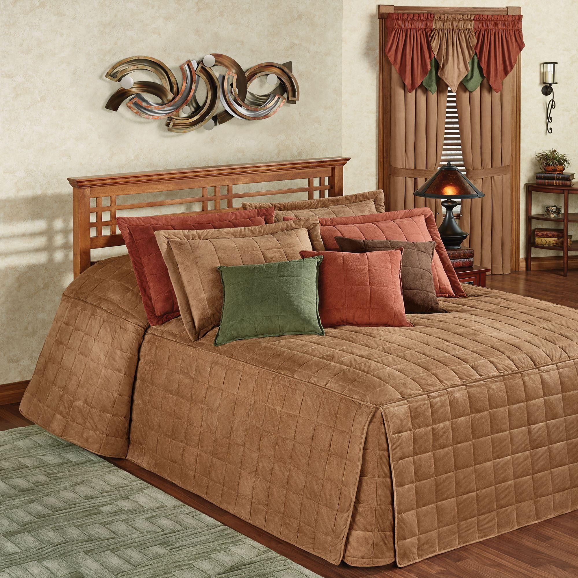 Camden Camel Grande Oversized Fitted Bedspread Bedding