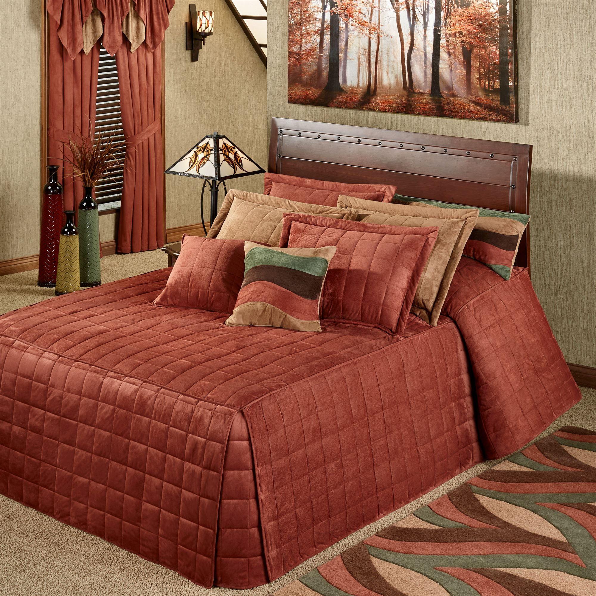 Camden Russet Grande Oversized Fitted Bedspread Bedding