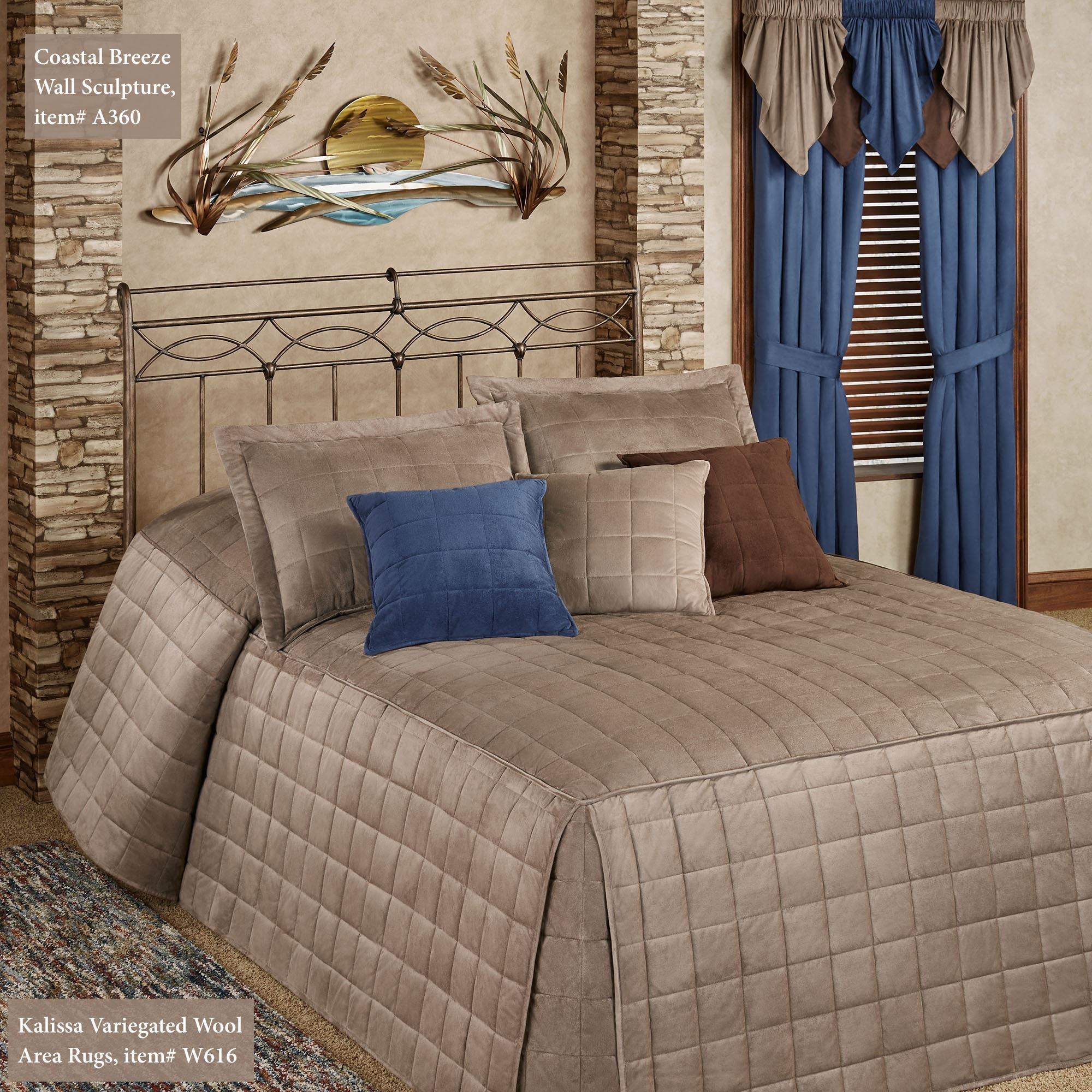 Camden Sand Grande Oversized Fitted Bedspread Bedding