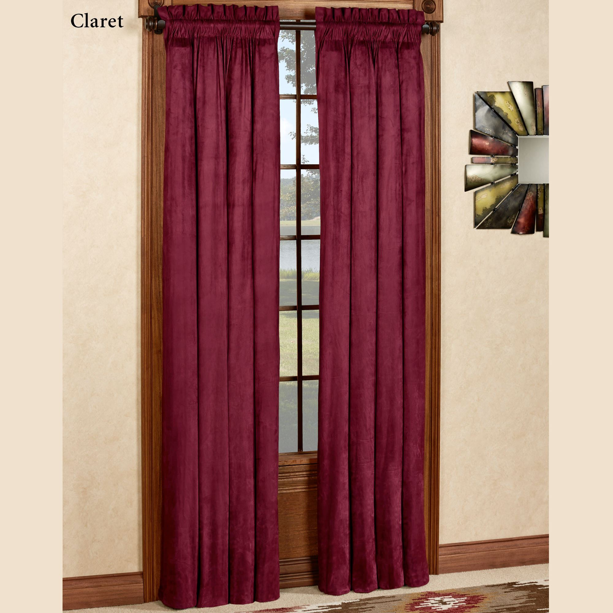 Camden Unlined Tailored Curtain Pair 84 X