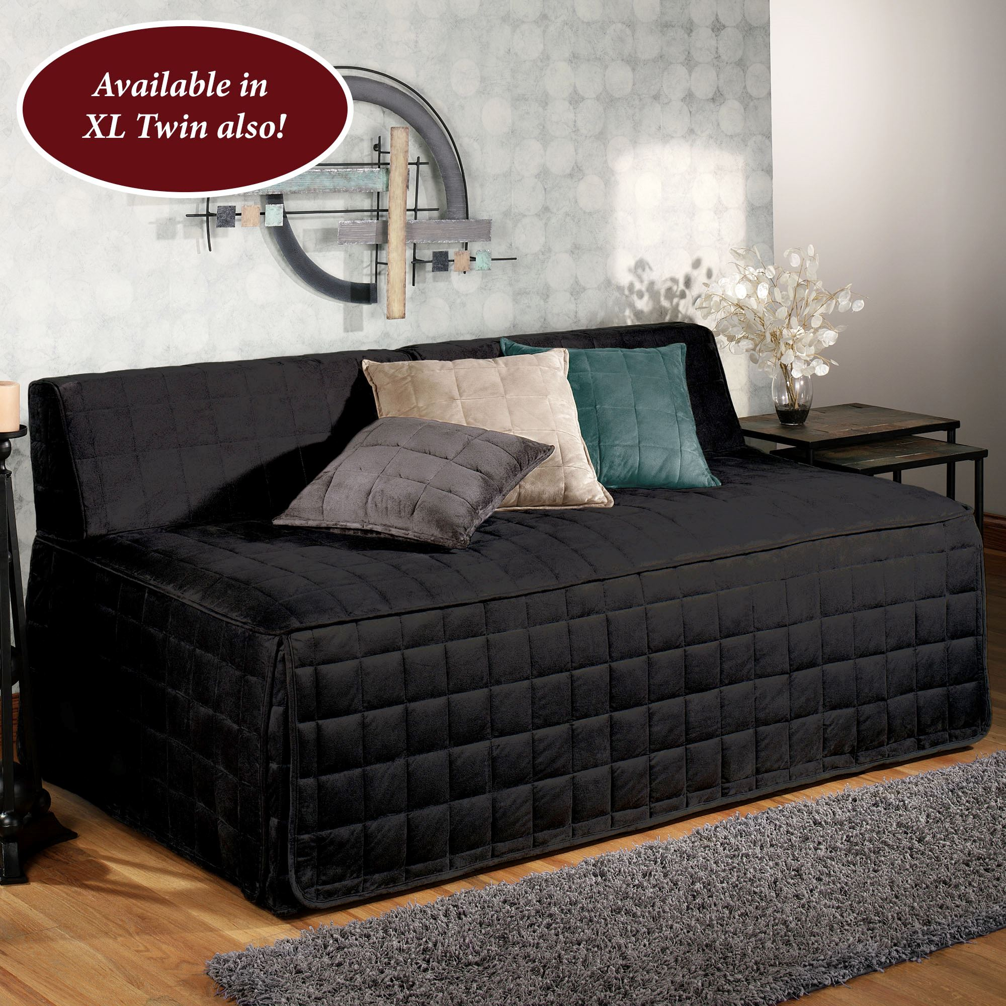 - Camden Onyx Quilted Hollywood Daybed Cover