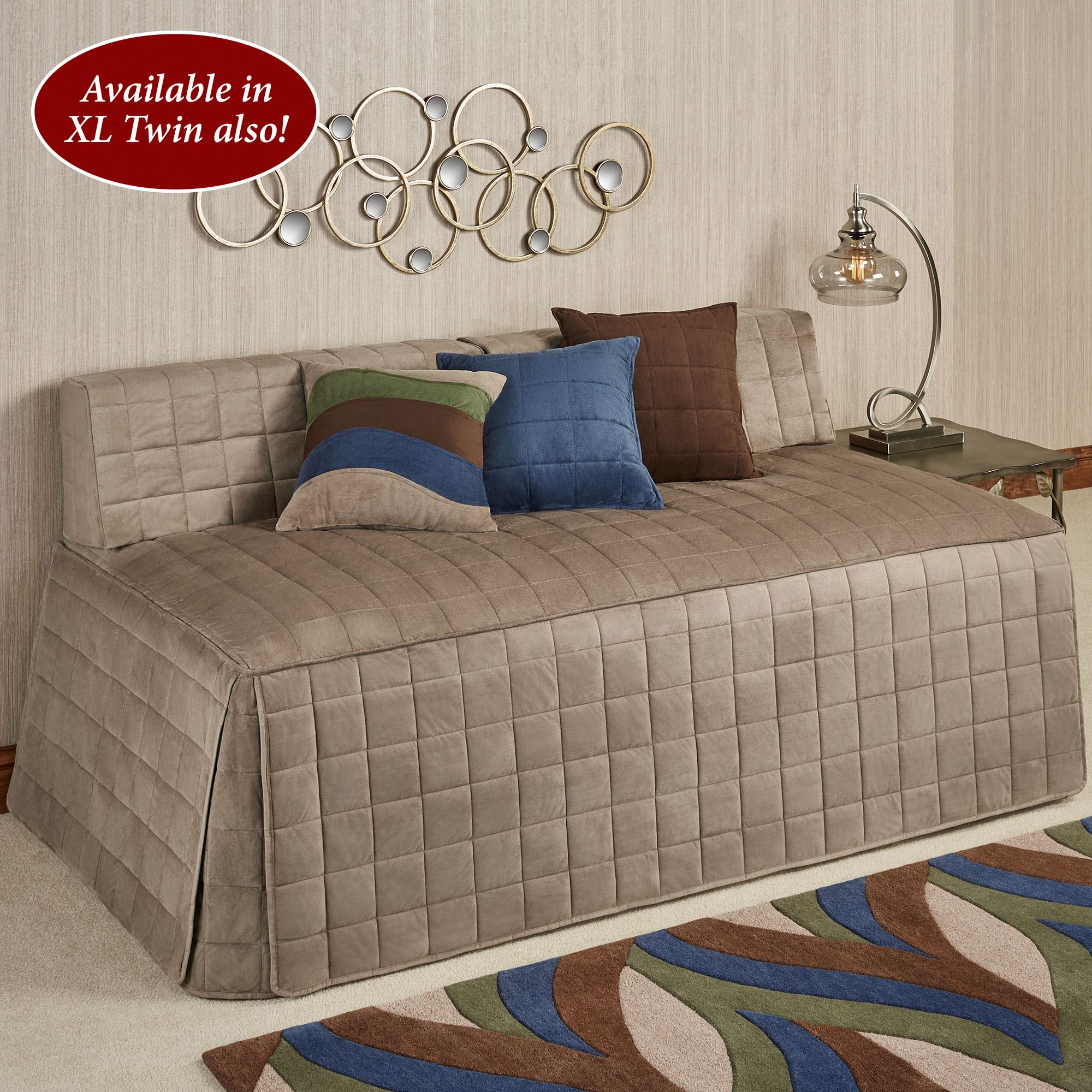 - Camden Sand Quilted Hollywood Daybed Cover