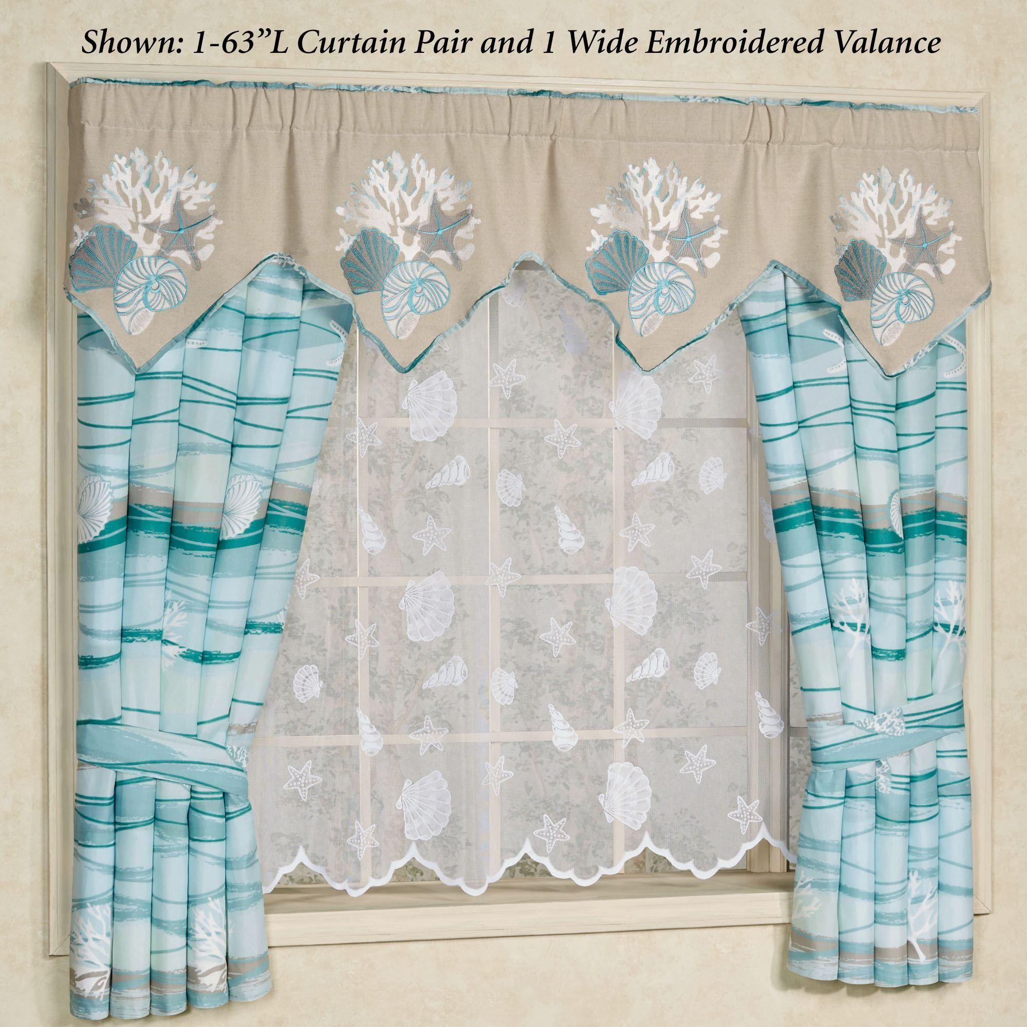 Seaview Coastal Curtains Or Valance