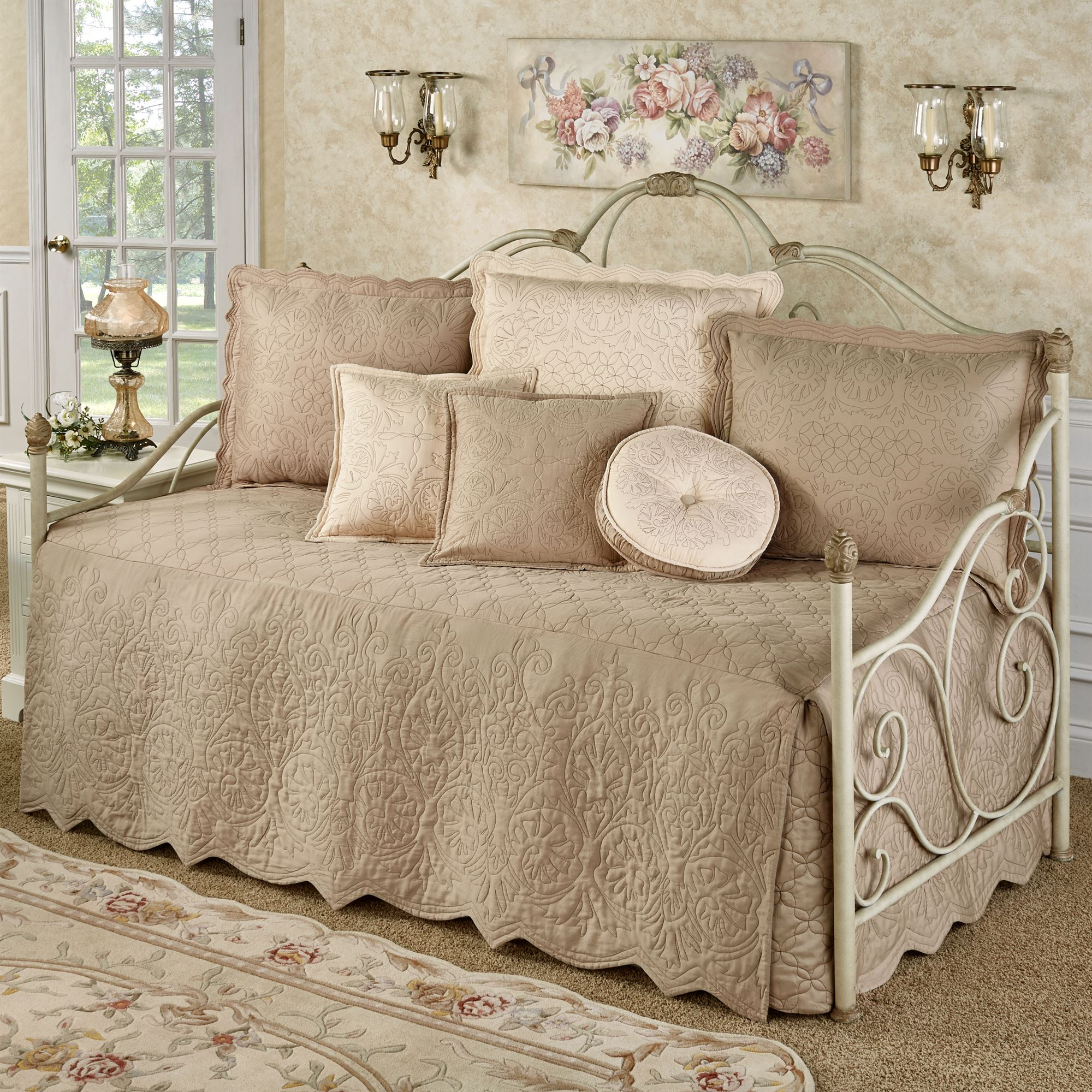 - Everafter Almond Quilted Daybed Bedding Set
