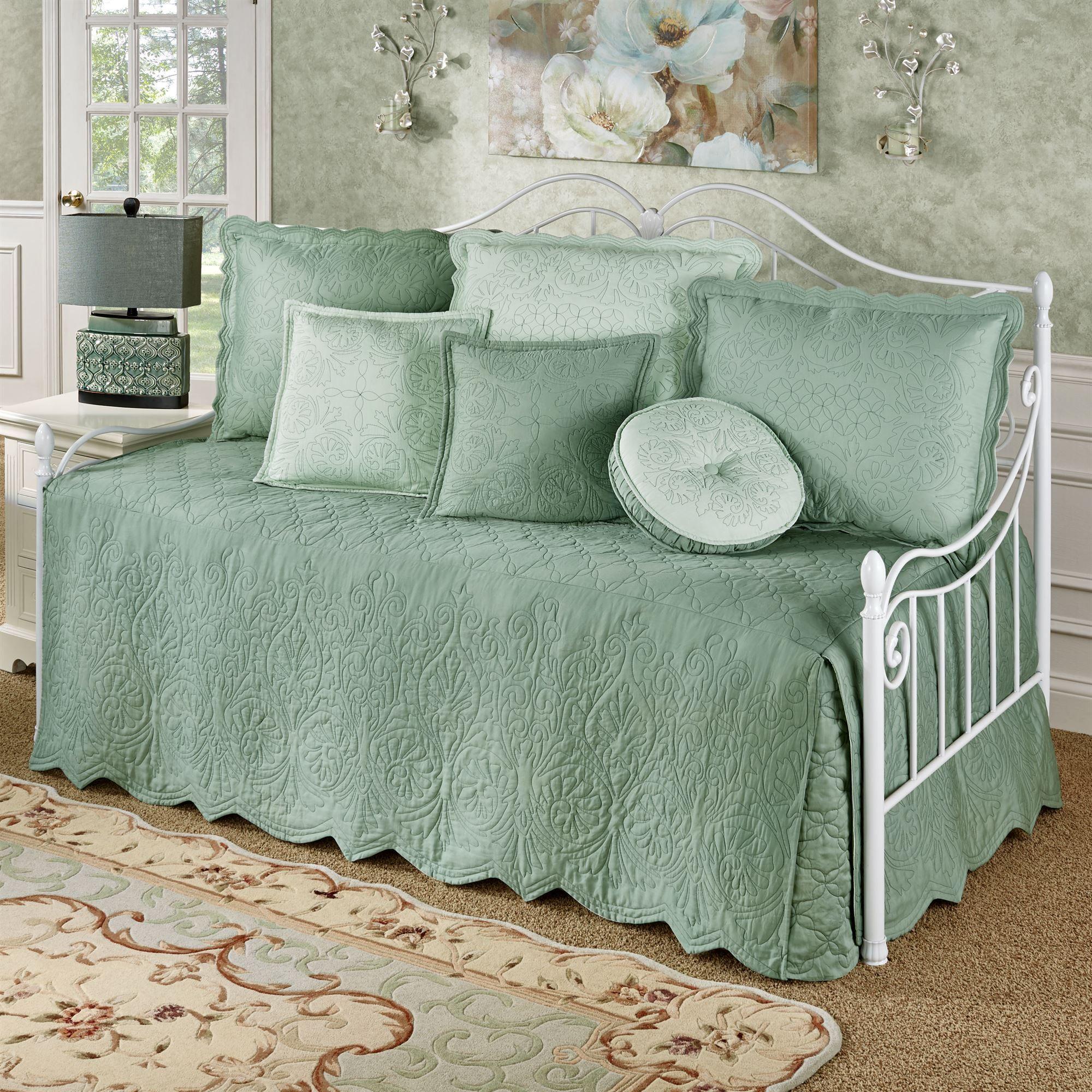 Everafter Celadon Quilted Daybed Bedding Set