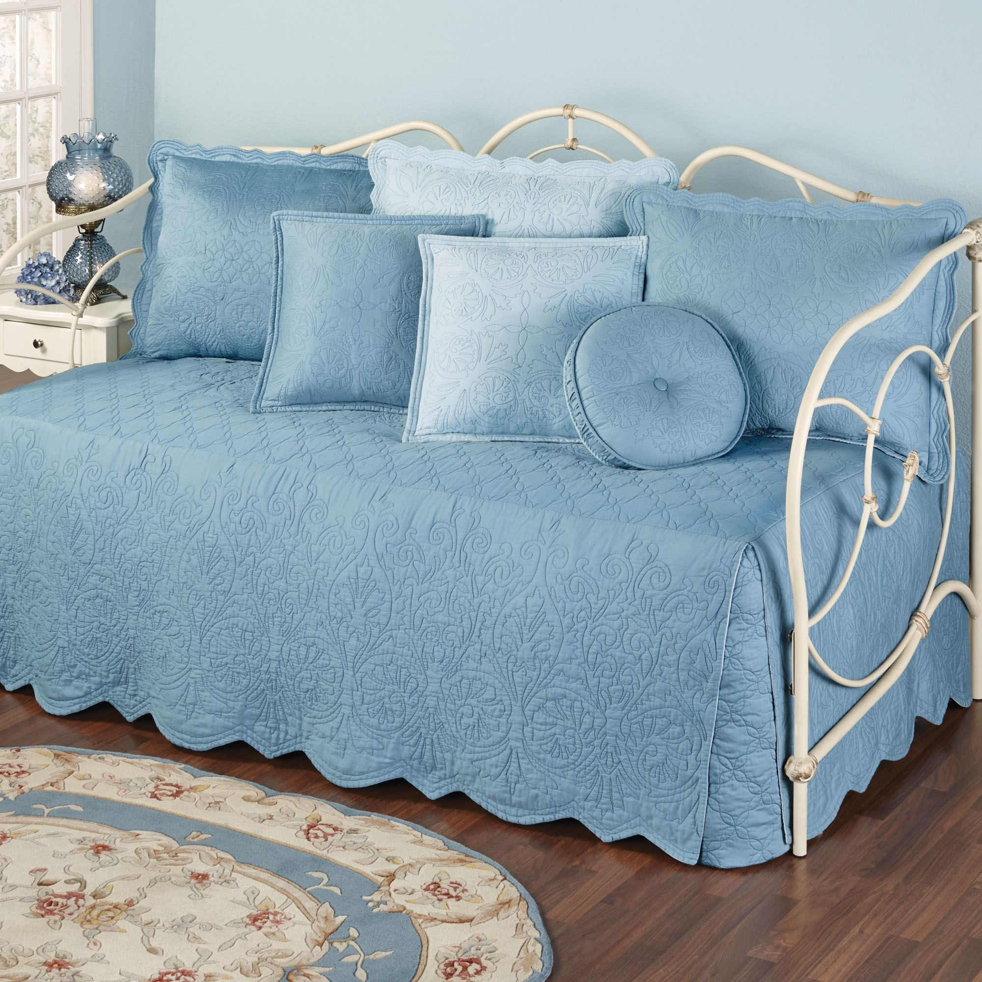 Everafter Dusty Blue Quilted Daybed Bedding Set
