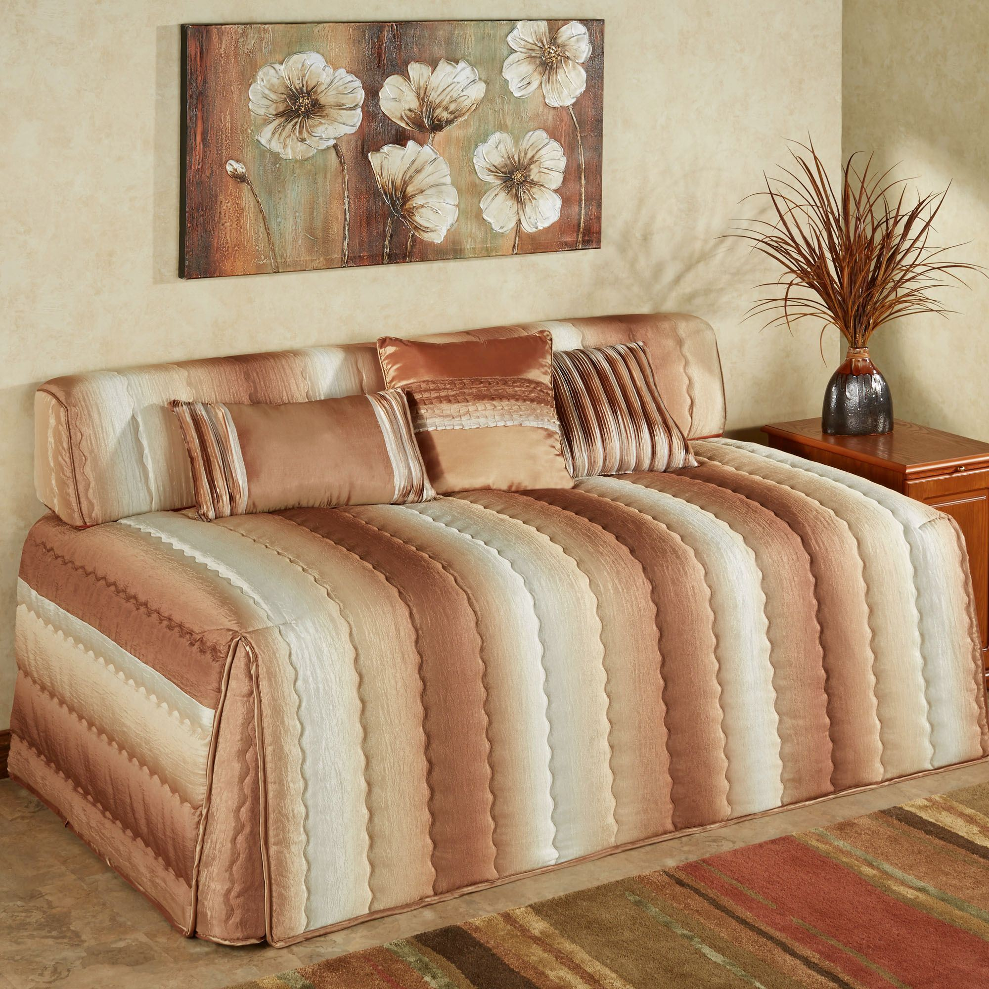 Mirage Hollywood Daybed Cover Sienna Brown Twin