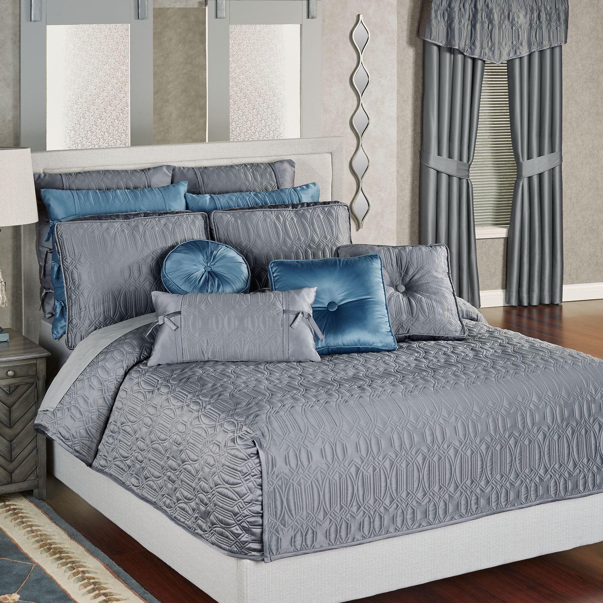Oxford Classics Warm Gray Mini Coverlet Set Bedding