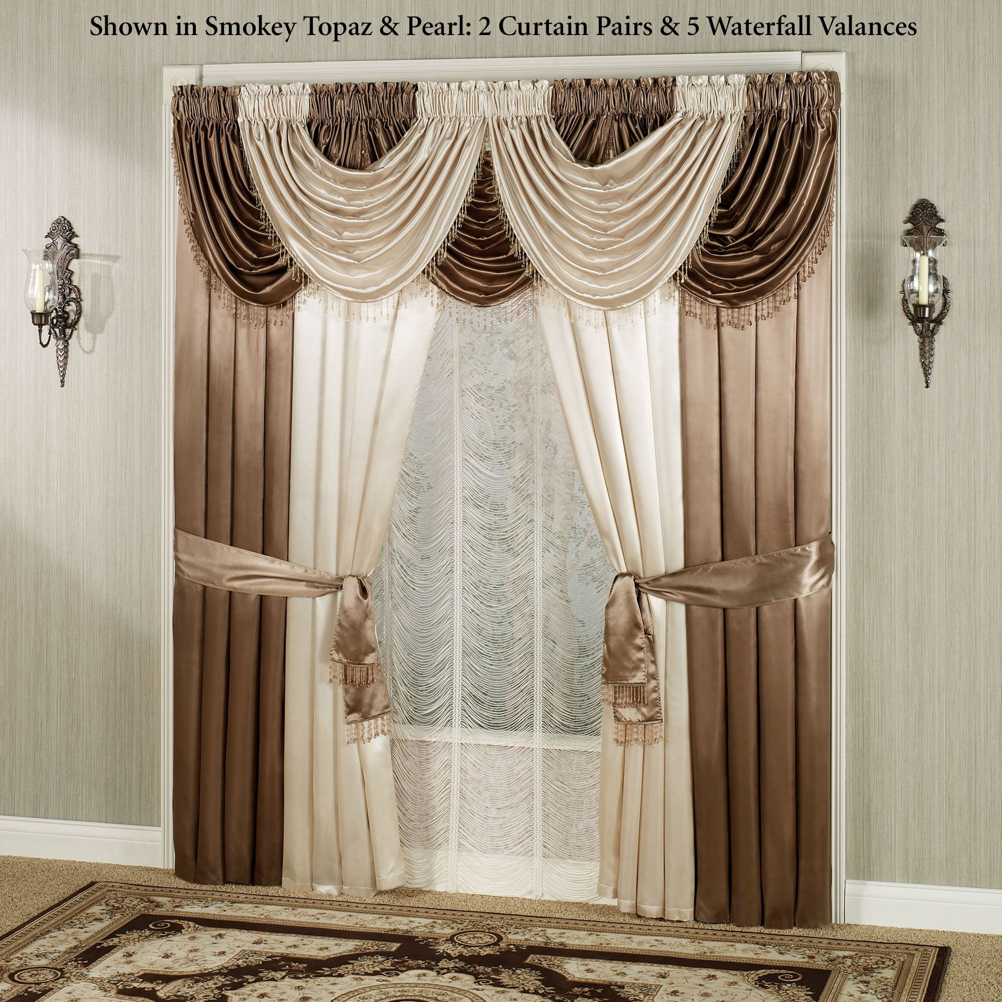 valances achim polyester opaque waterfall in autumn semi l ombre valance p curtains drapes