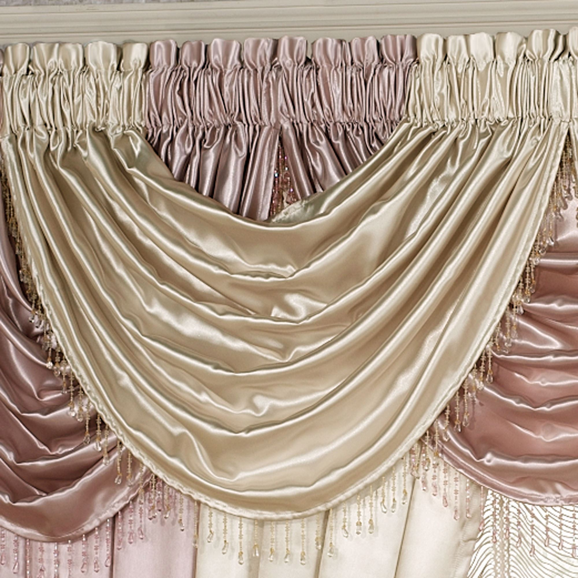 waterfall treatments how pin to scarf and window valance sheer semi hang ombre