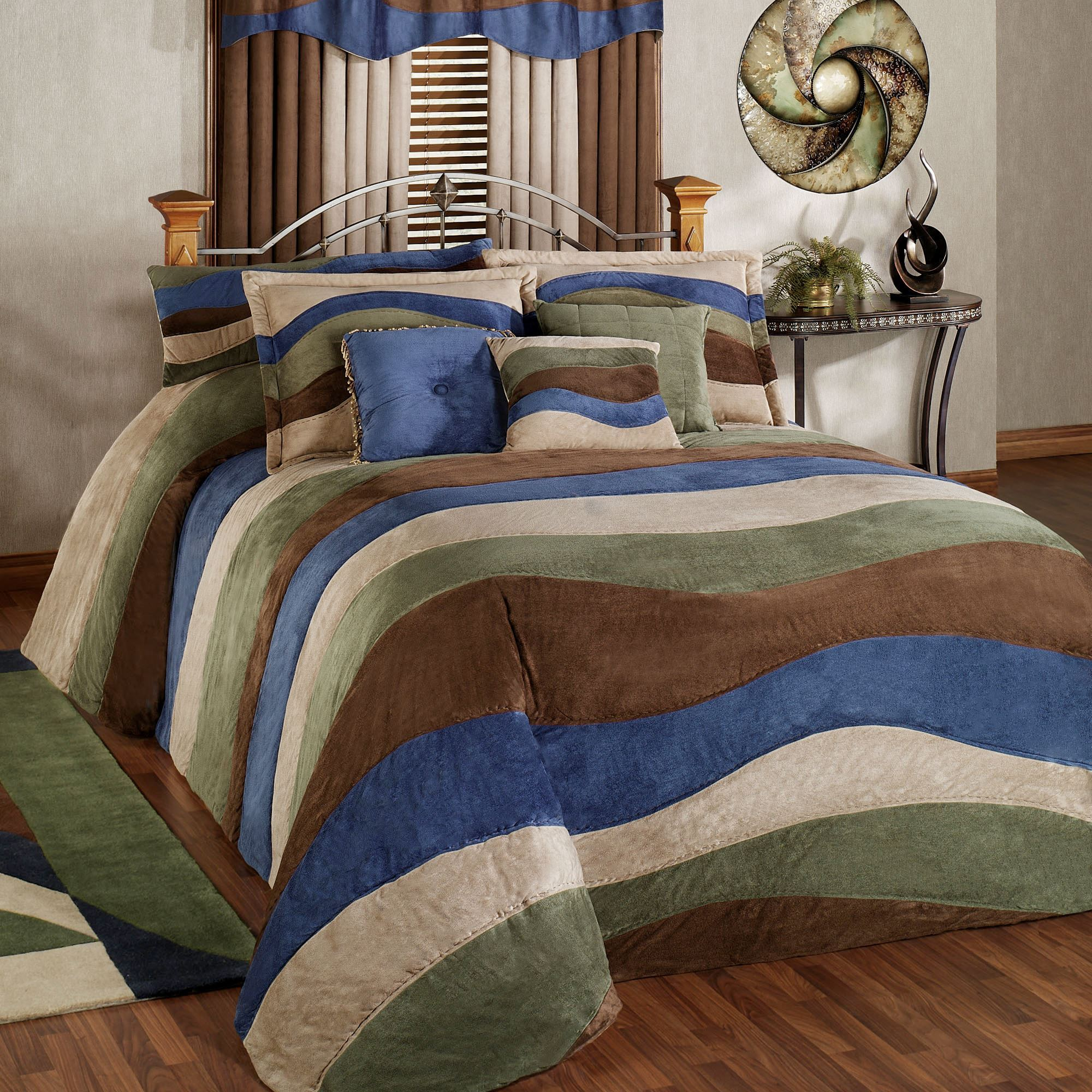 bag mainstays classic ip walmart coordinating in set bed a suede com comforter bedding noir micro