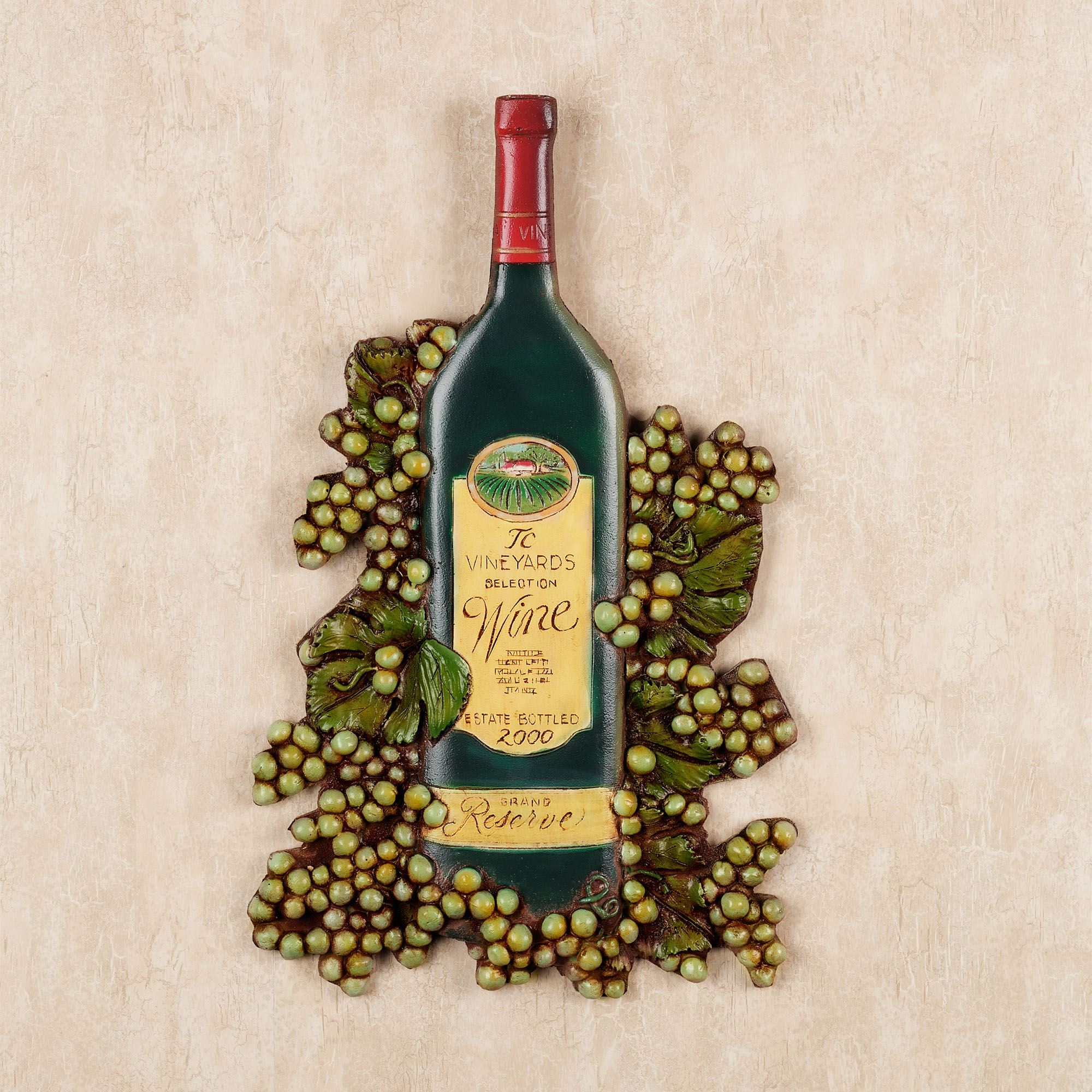Metal Wall Plaques For Kitchen Wine Bottle Wall Plaque