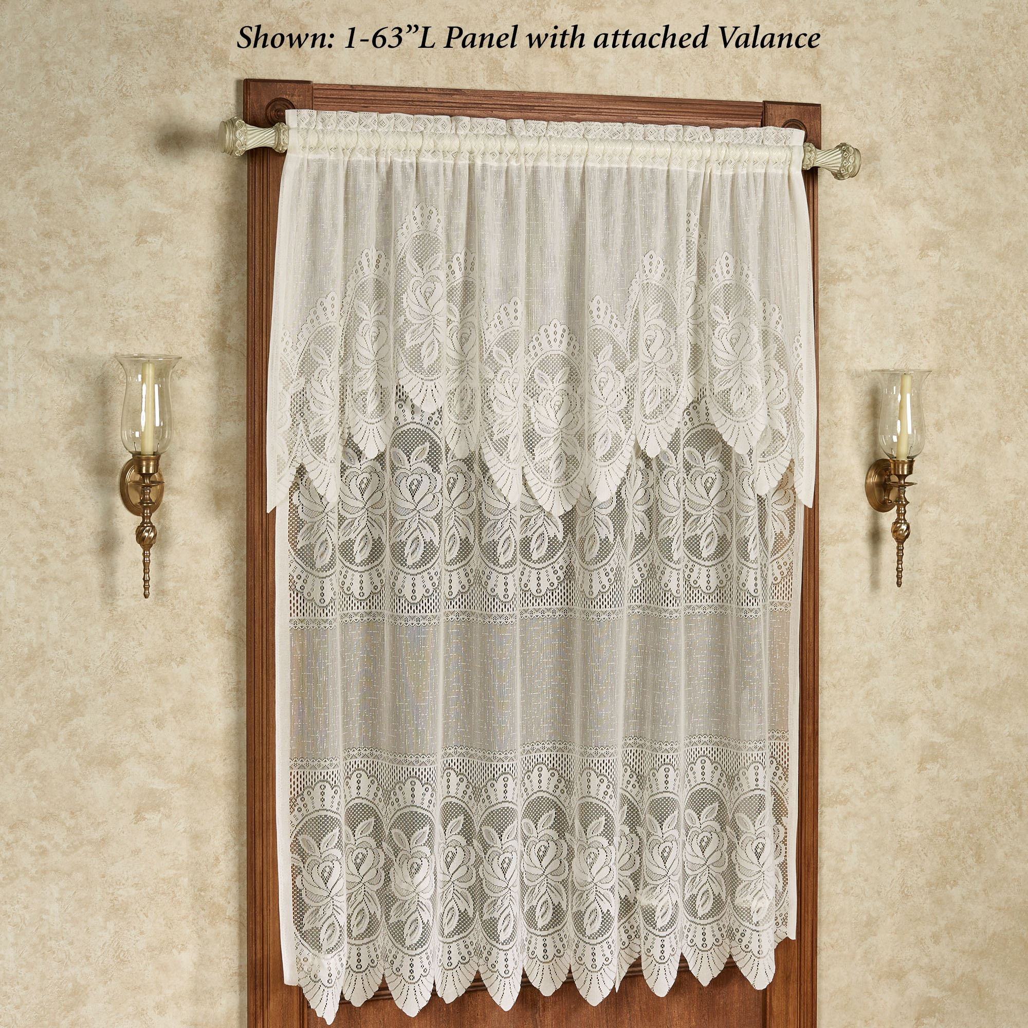 Easy Style Adelina Lace Curtain Panel with Attached Valance