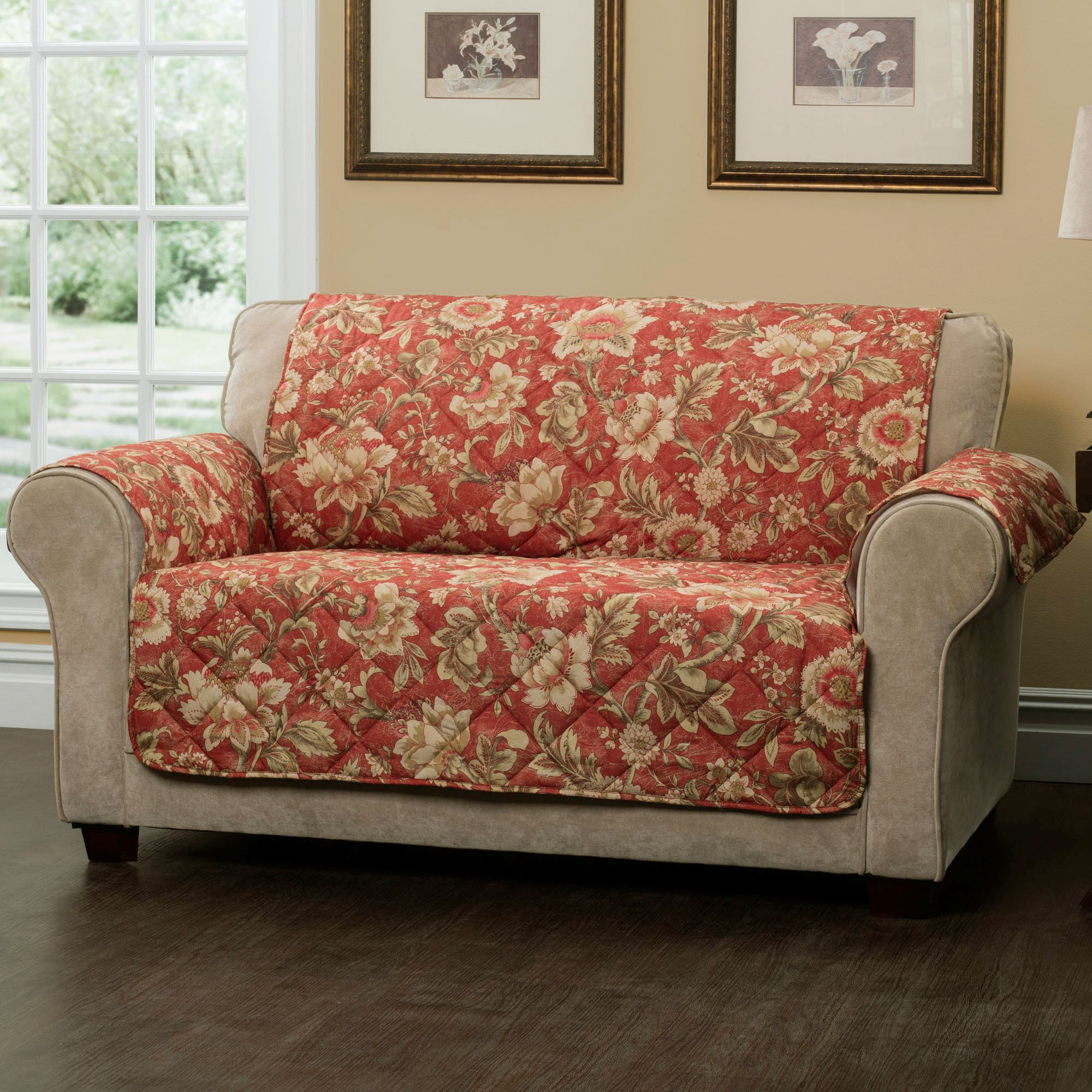 Aviston Sunset Jacobean Floral Furniture Protectors
