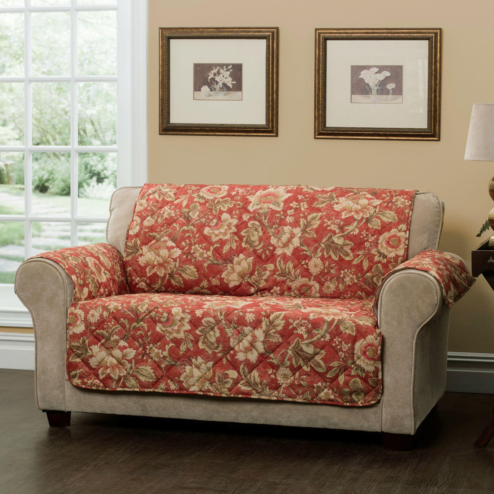 Aviston Sunset Jacobean Floral Furniture Protectors