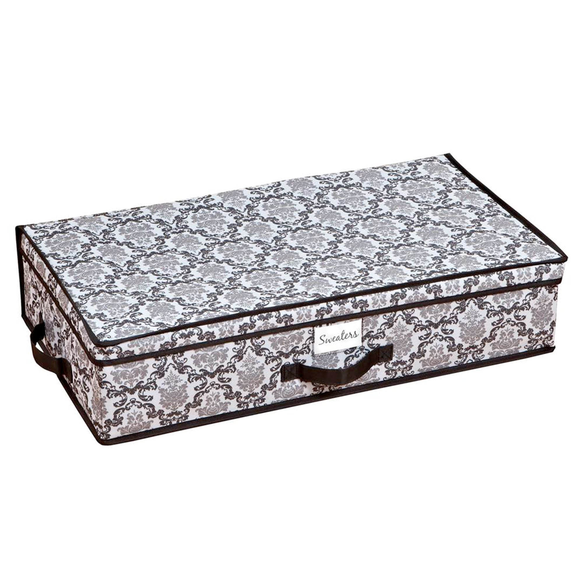 Lydia Under Bed Storage Boxes Black Set of Two  sc 1 st  Touch of Class & Lydia Storage Boxes and Closet Organizers