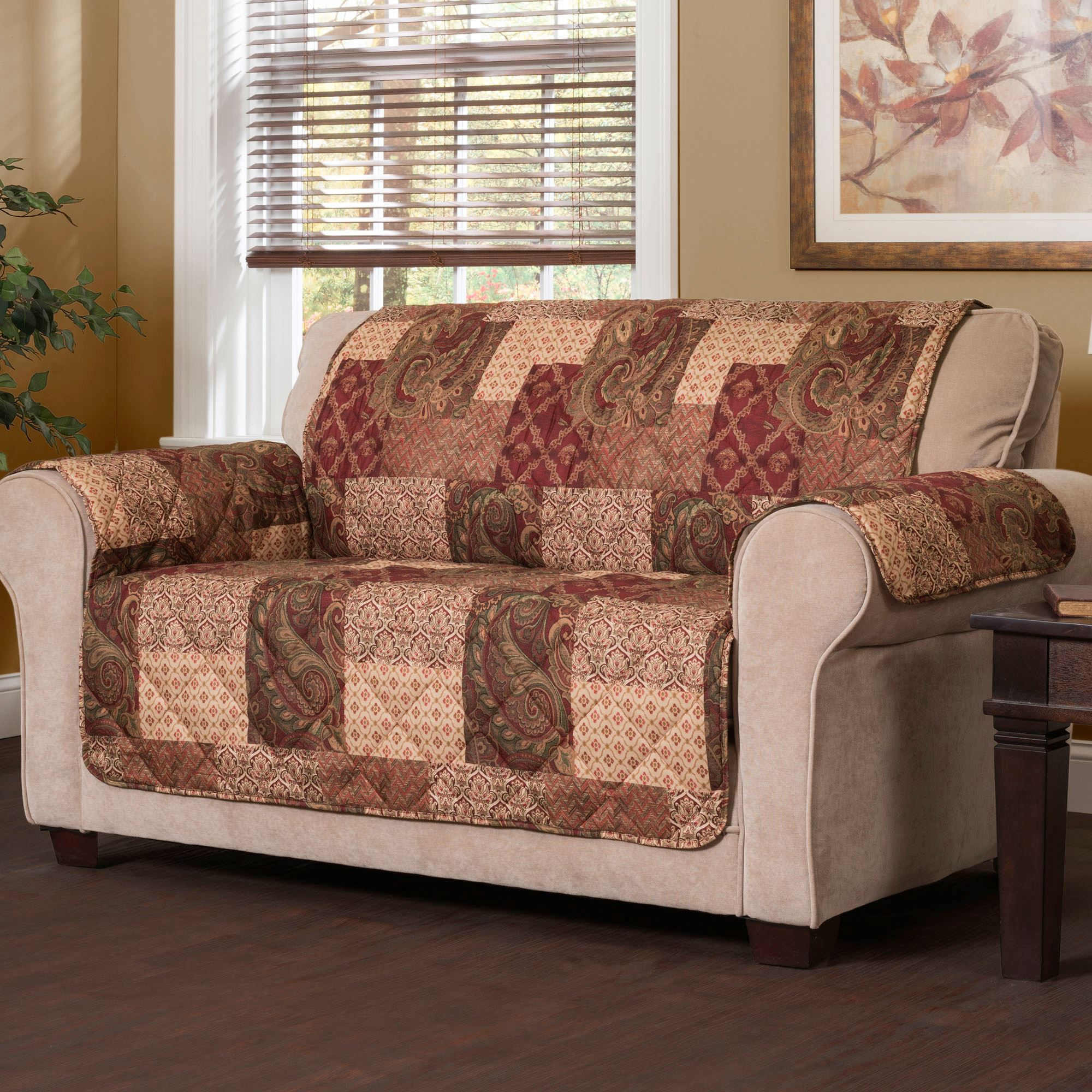 Patches Furniture Protector Multi Warm Loveseat