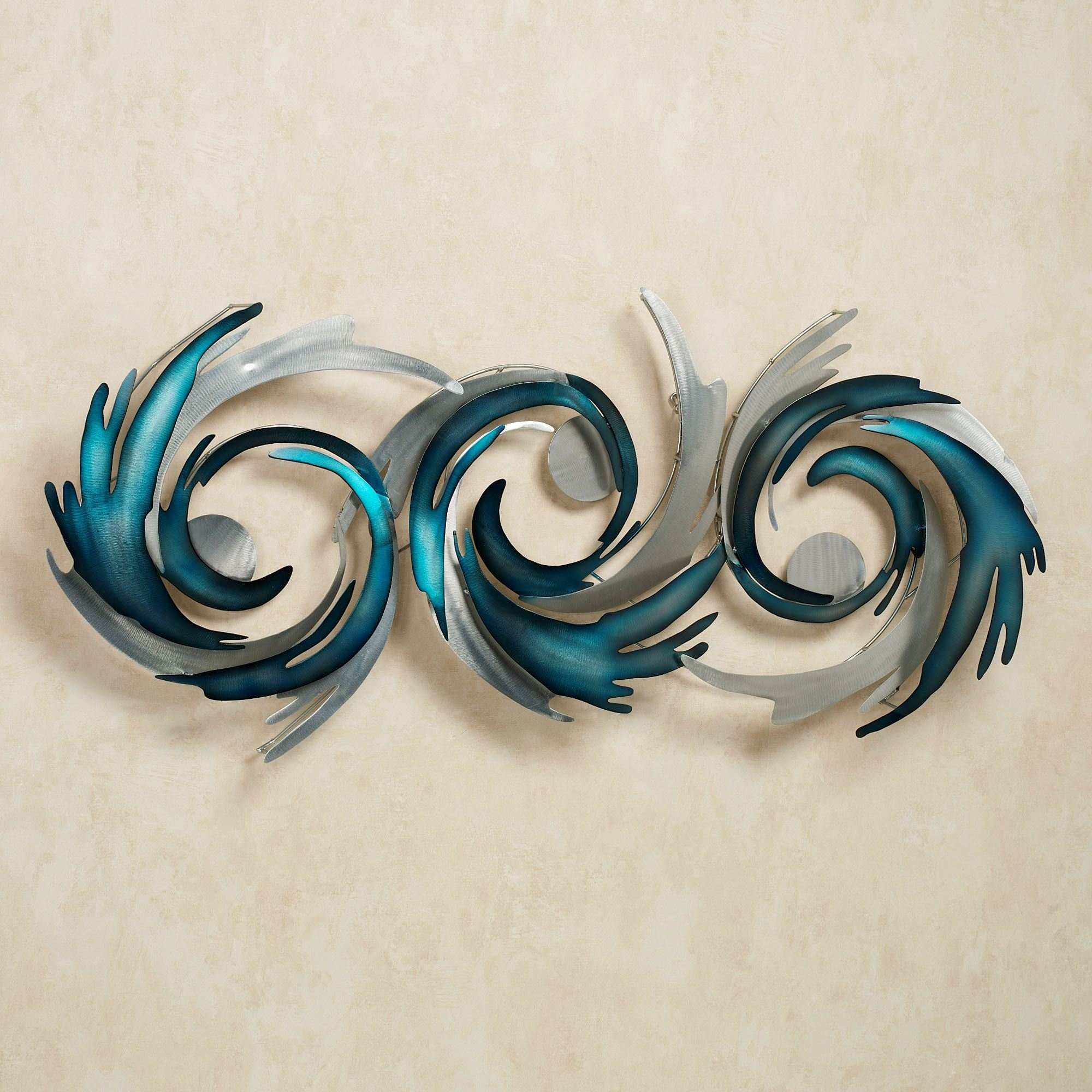 Perfect Storm Metal Wall Sculpture Blue. Click To Expand