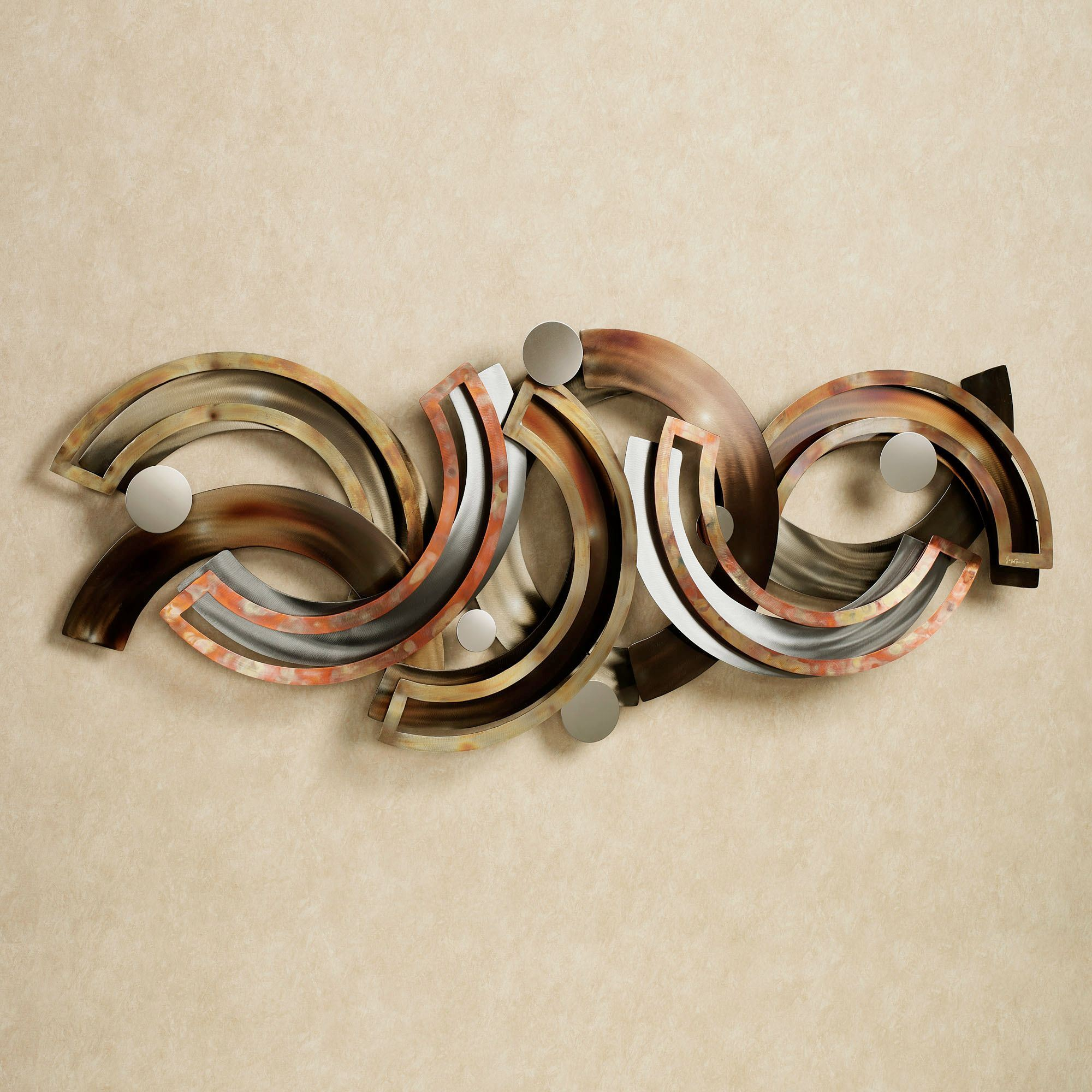 Rejoice abstract metal wall sculpture by jasonw studios for Contemporary decorative accessories