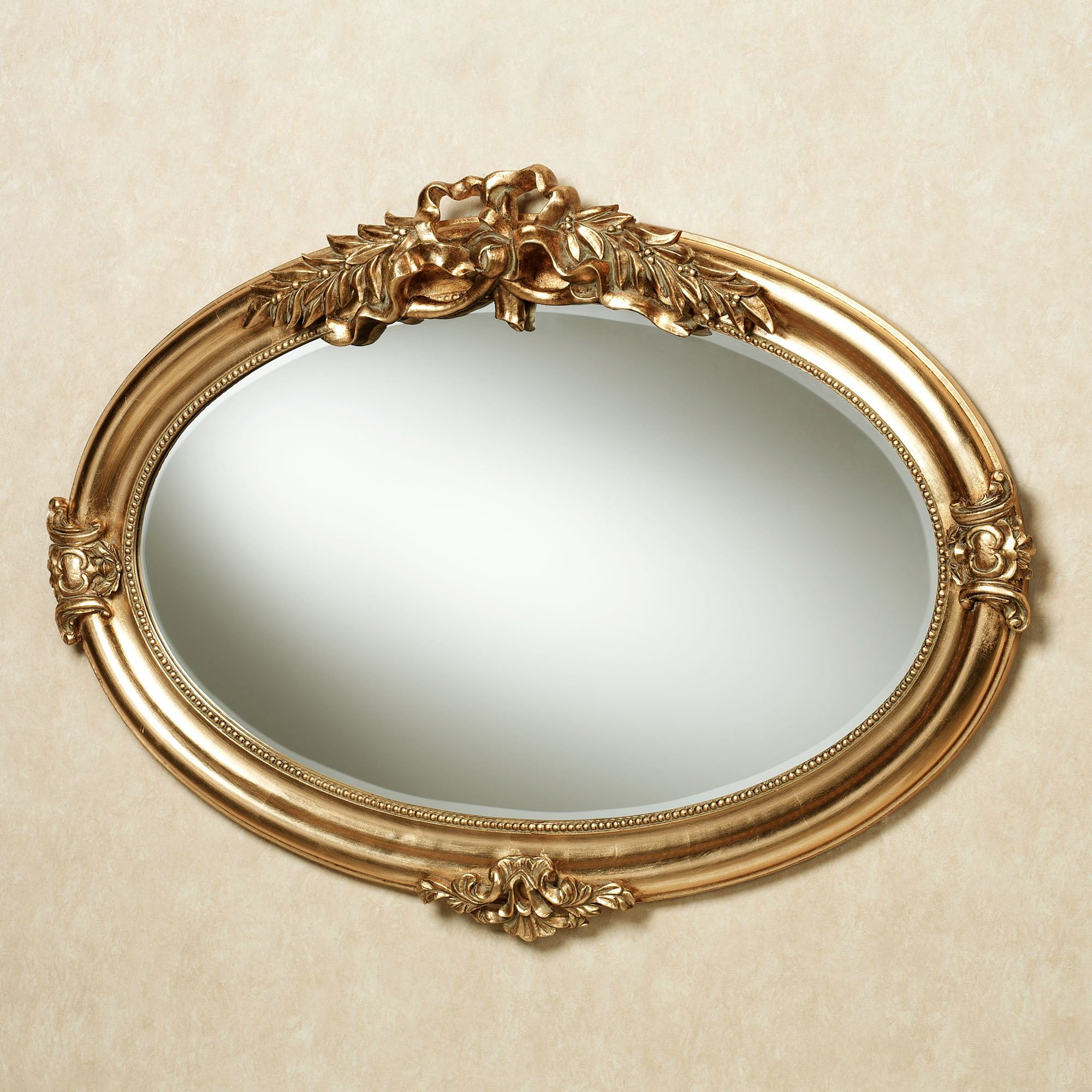 Marsciano horizontal oval wall mirror for Fancy oval mirror