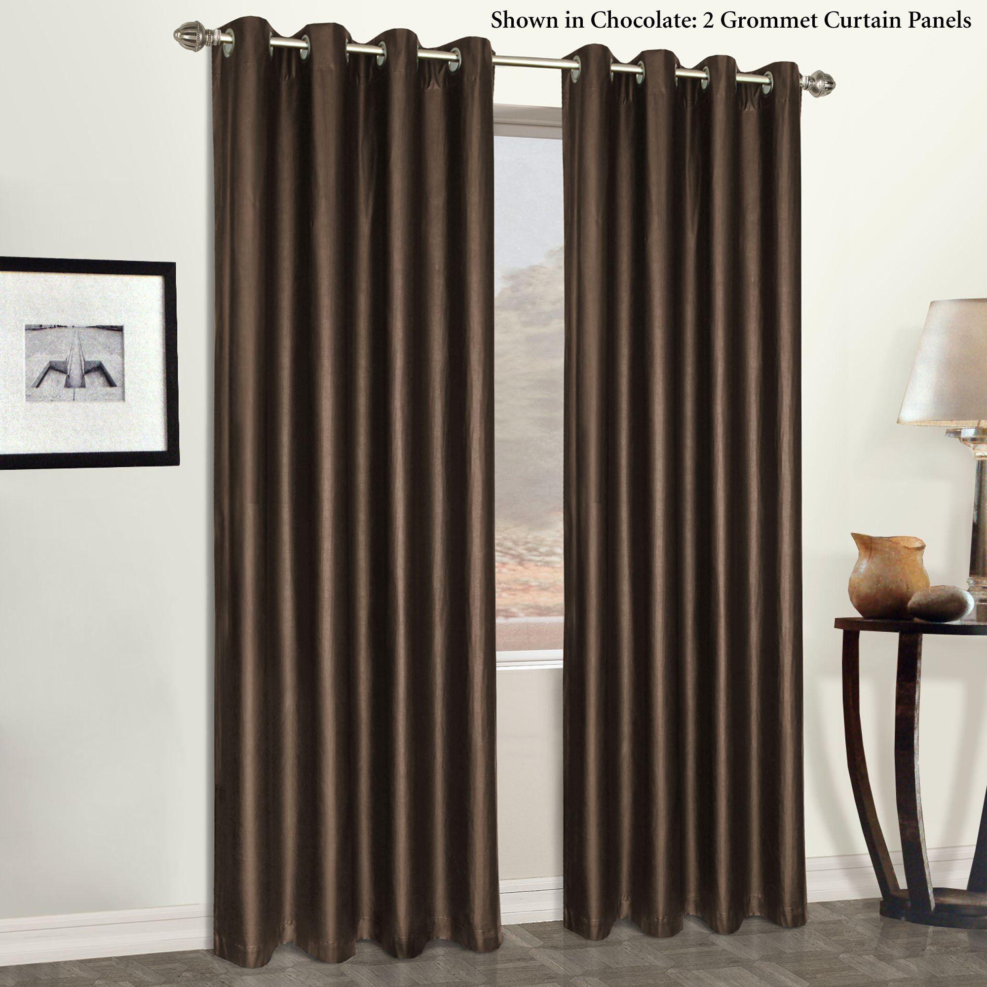 Faux Leather Grommet Curtain Panels