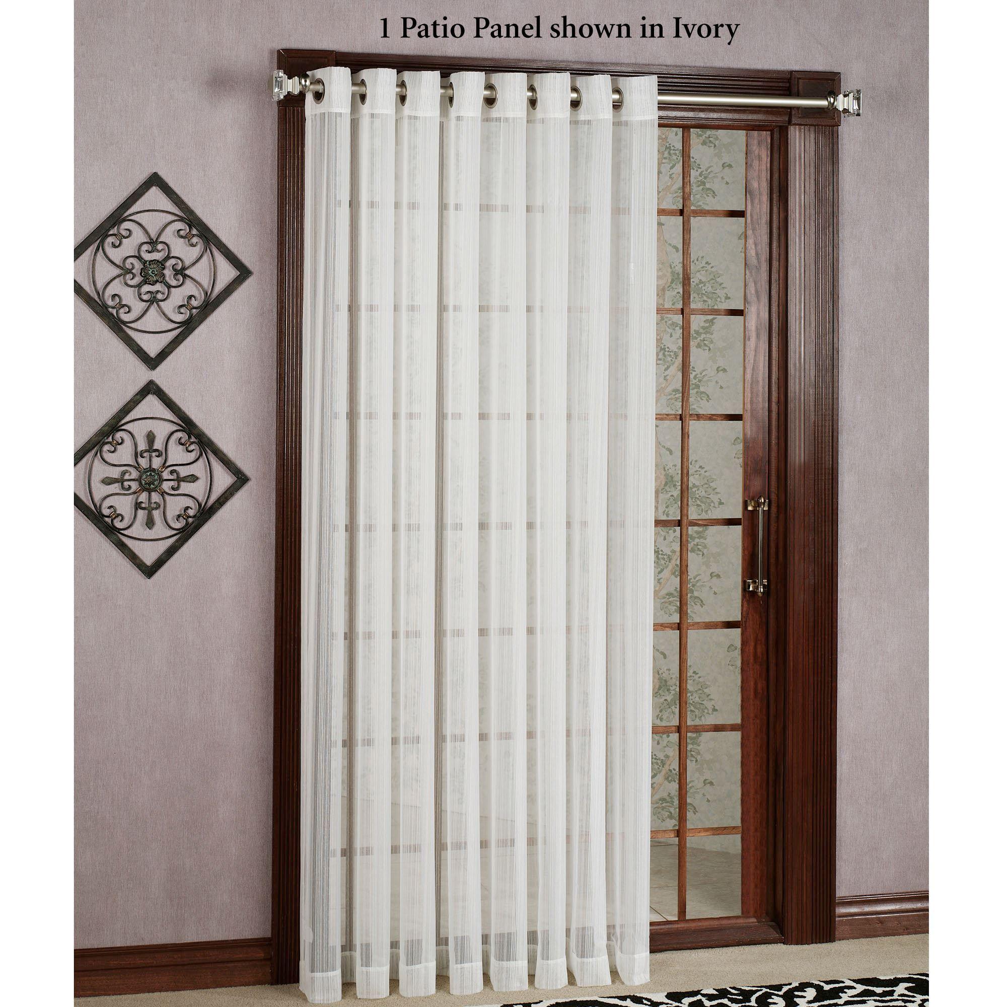 Atlantic Stripe Semi Sheer Grommet Curtain Panels