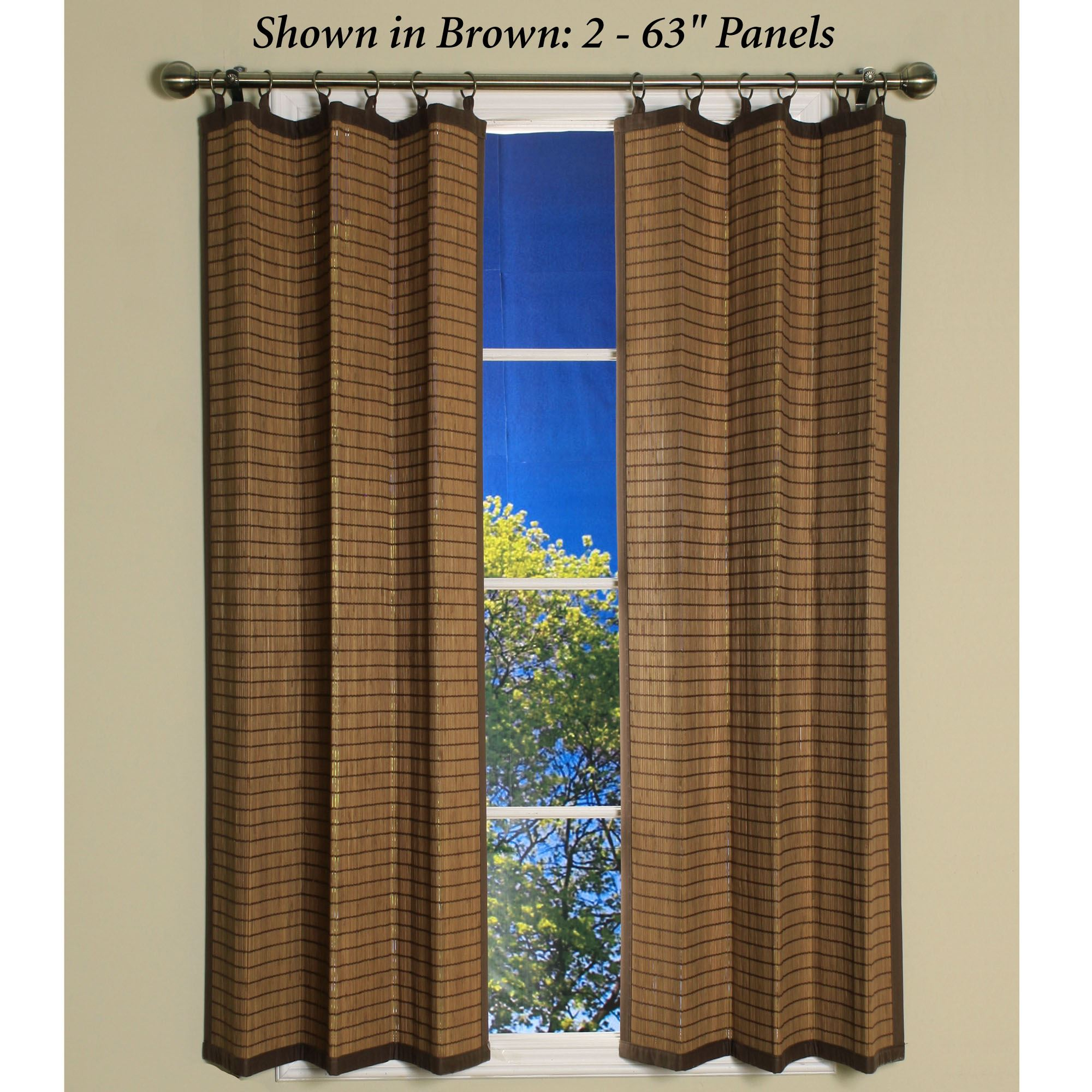 Bamboo Ring Top Curtain Panels