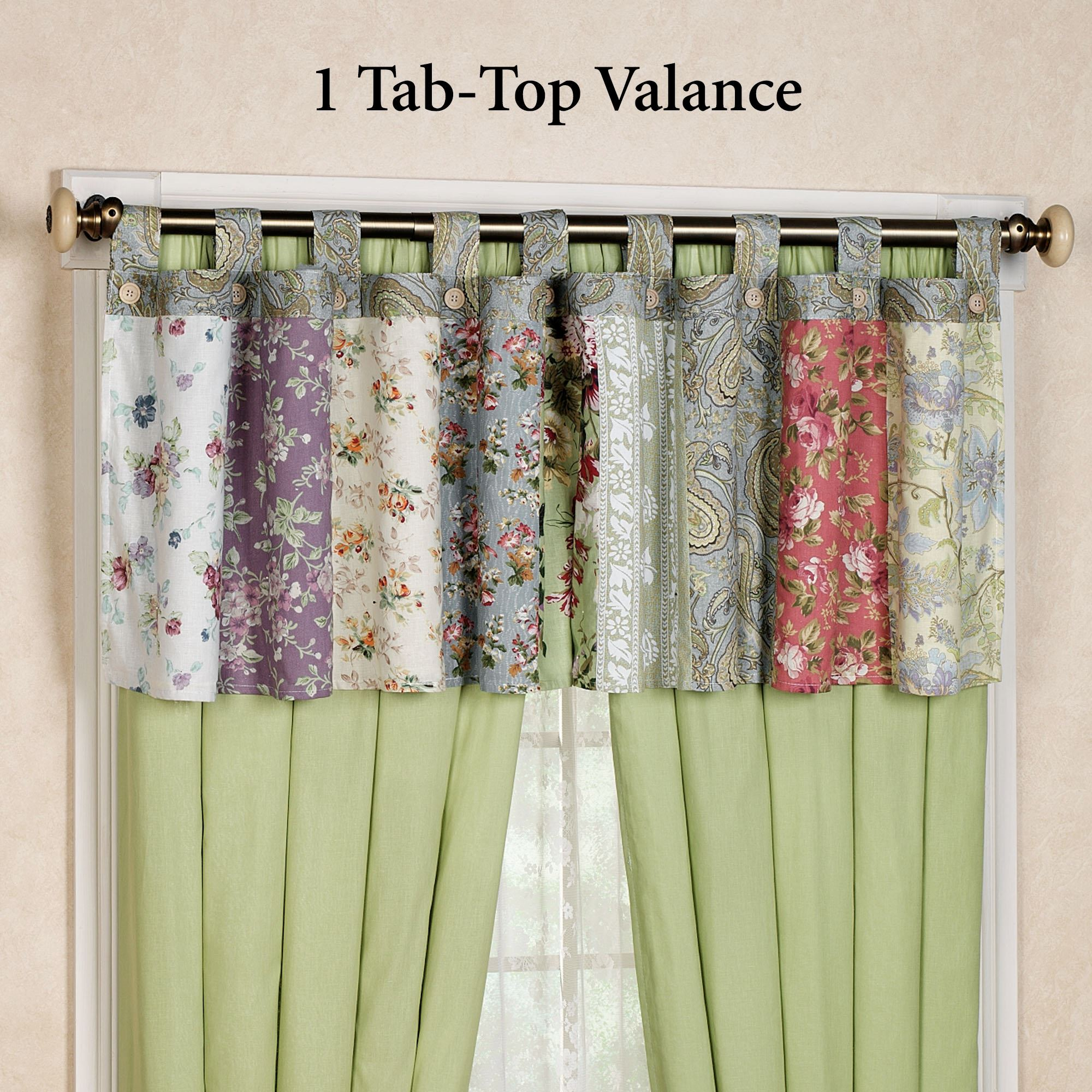 Blooming Prairie Tab Top Valance Multi Cool 84 X 21